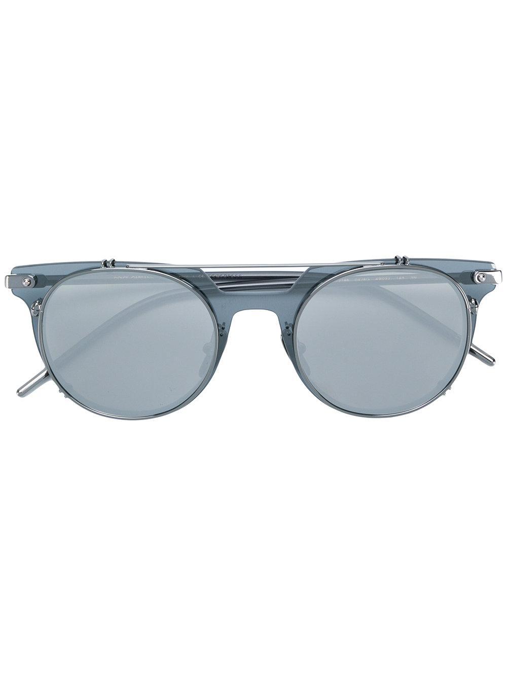 Dolce & Gabbana Round Frame Sunglasses In Grey