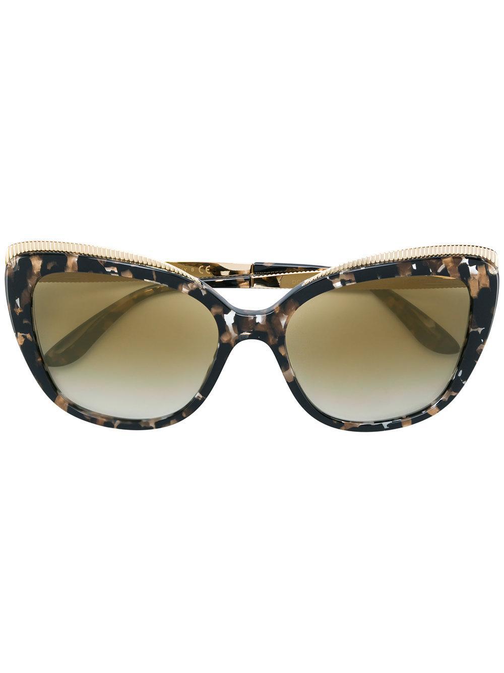 Dolce & Gabbana Cat Eye Sunglasses In Brown