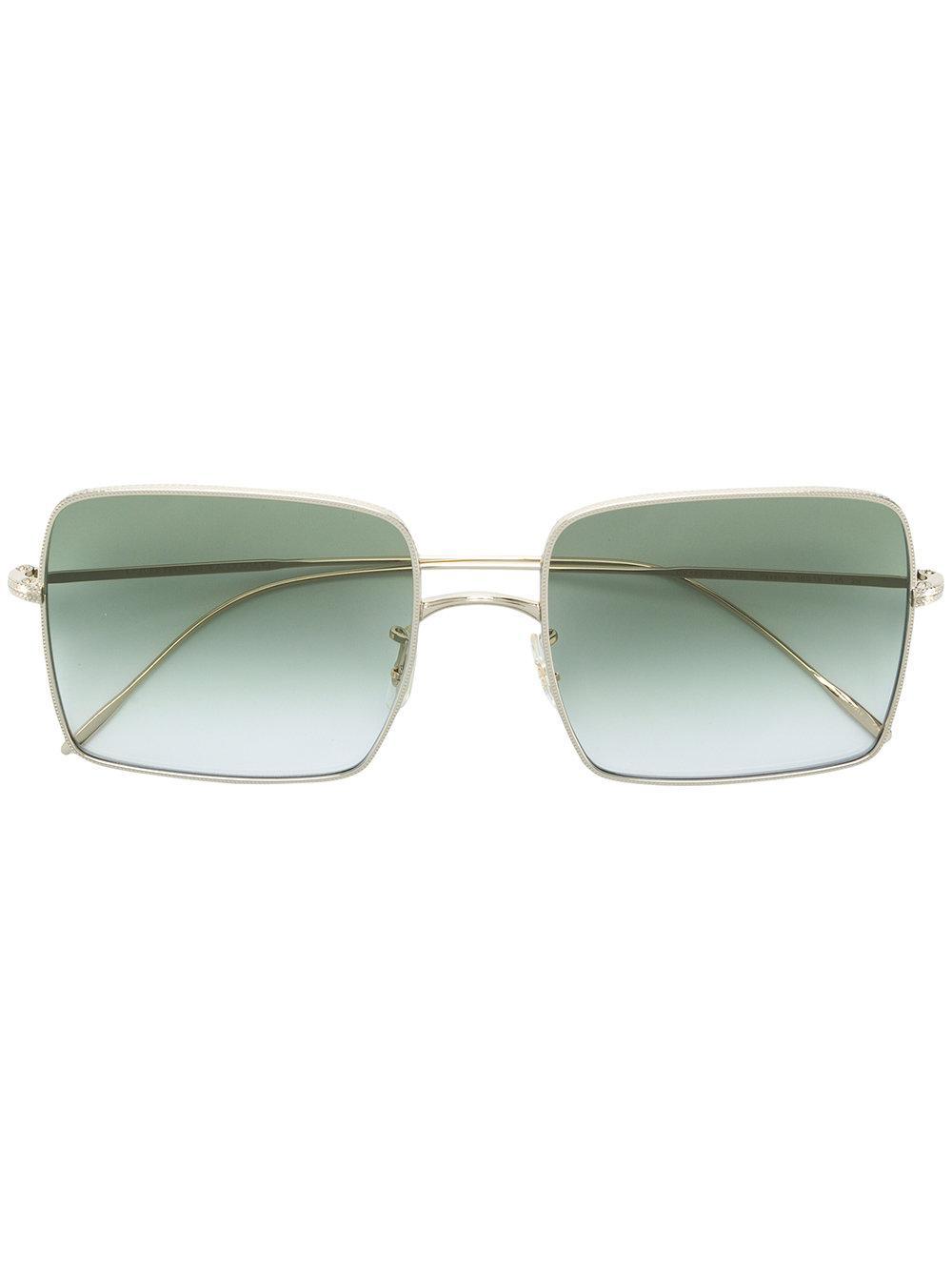 Oliver Peoples Gradient Lens Square Sunglasses - Metallic
