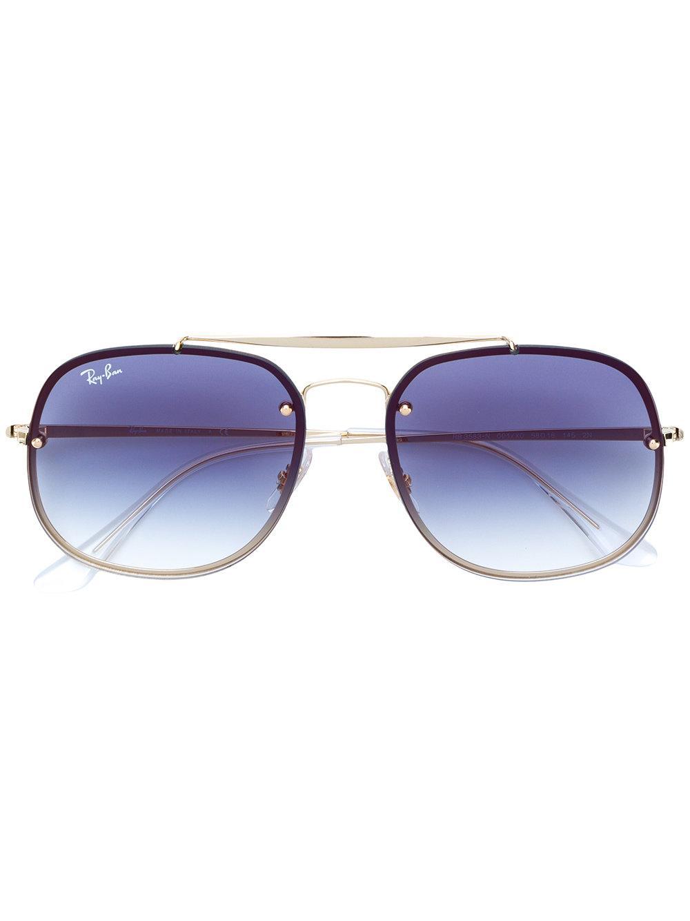 Ray Ban Ray-ban Aviator Style Gradient Lens Sunglasses - Metallic