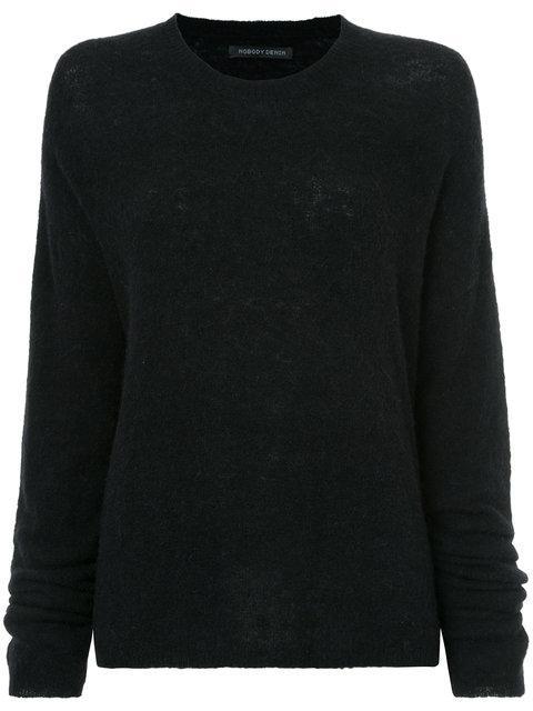 Nobody Denim Cherished Knit Pepper Jumper In Black
