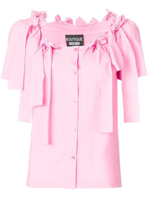 Boutique Moschino Bow Trim Blouse