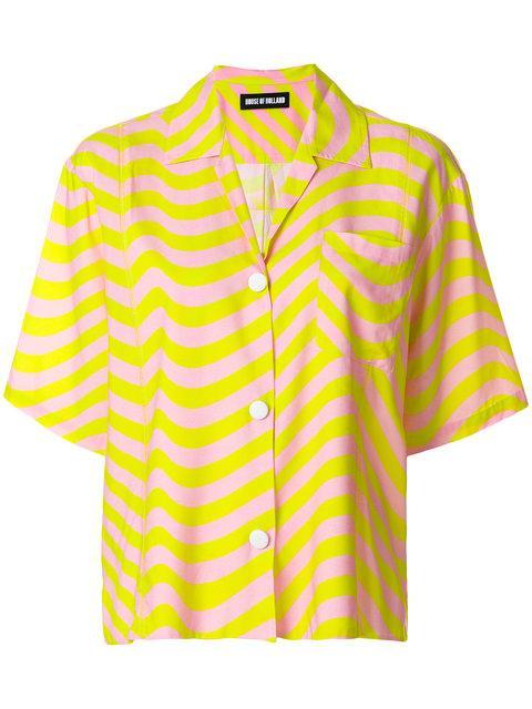 House Of Holland Hypnotic Shirt - Yellow & Orange