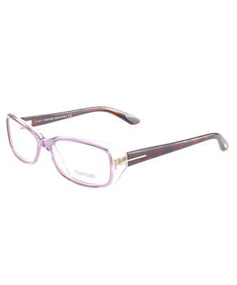 Tom Ford Rectangle Plastic Eyeglasses In Pink Havana