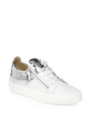 b06172c8eb0c Giuseppe Zanotti Two-Tone Suede Sneakers In Bianco