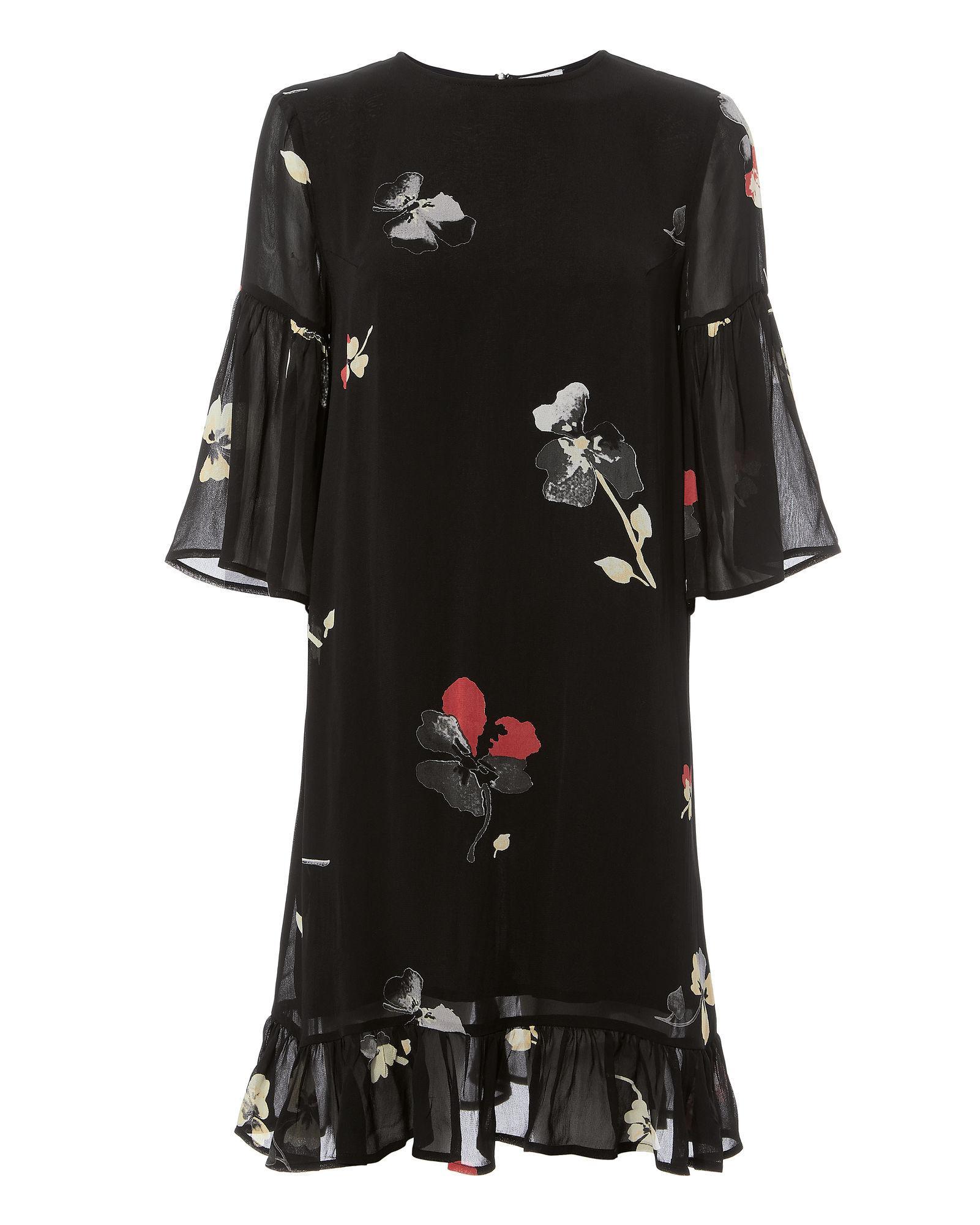 Ganni Lorita Georgette Mini Dress