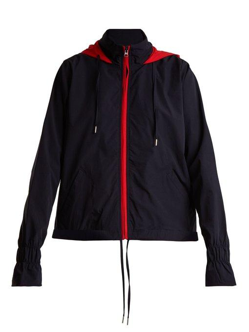 The Upside Andre Hooded Performance Anorak Jacket In Navy