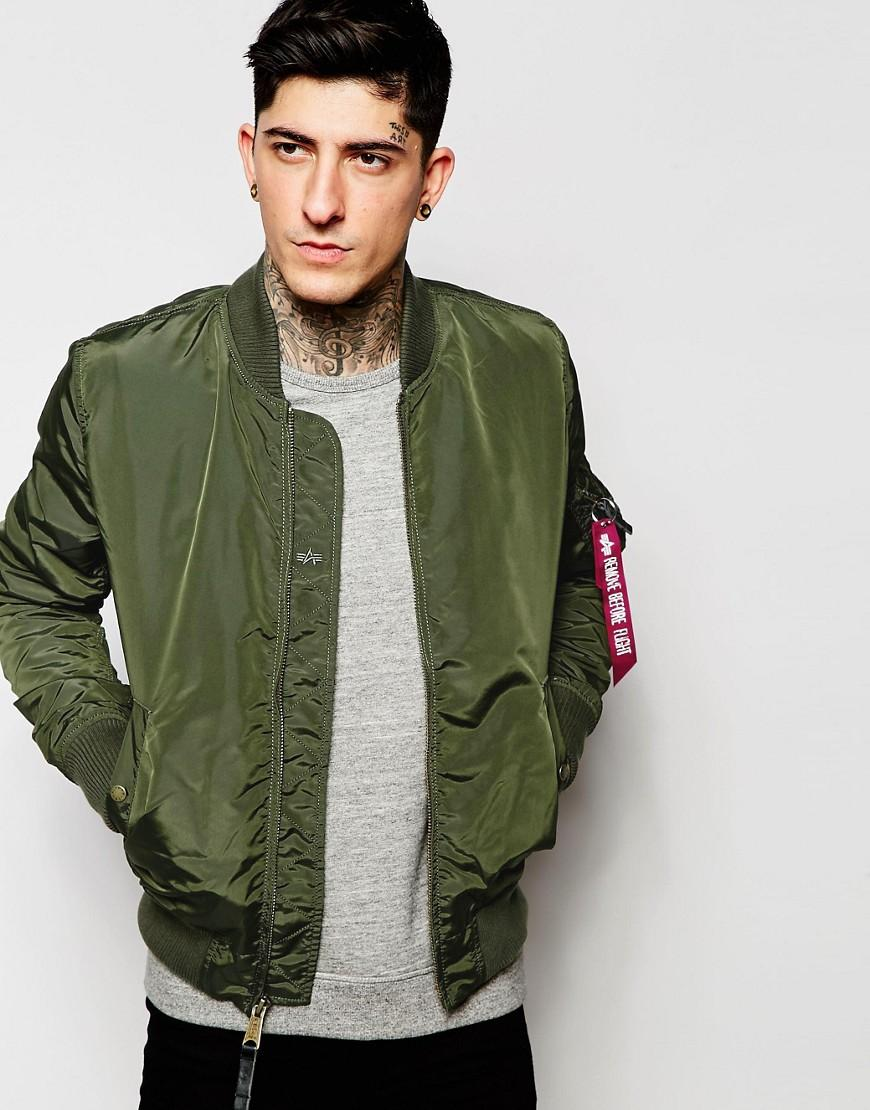 Alpha Industries Ma-1 Bomber Jacket Slim Fit - Green