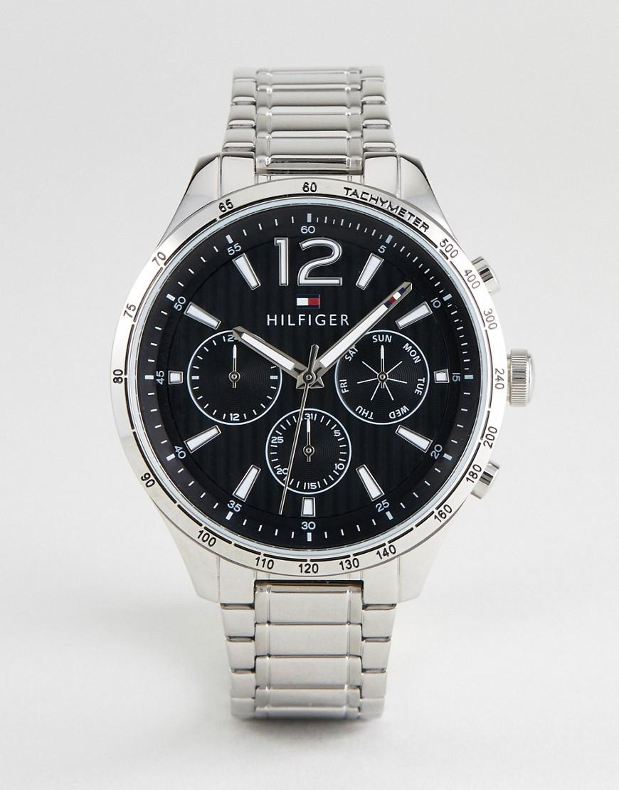Tommy Hilfiger 1791469 Chronograph Bracelet Watch In Silver 46mm - Silver