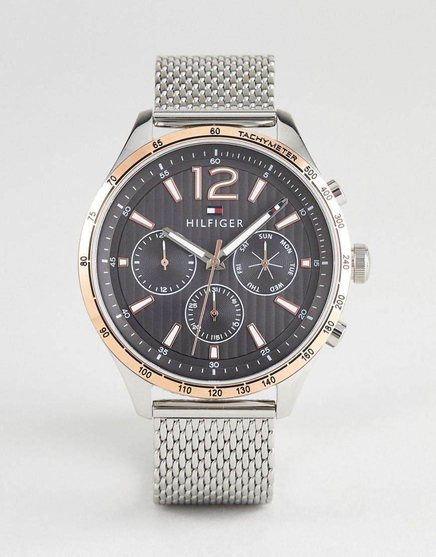 Tommy Hilfiger 1791466 Chronograph Mesh Watch In Silver 46mm - Silver
