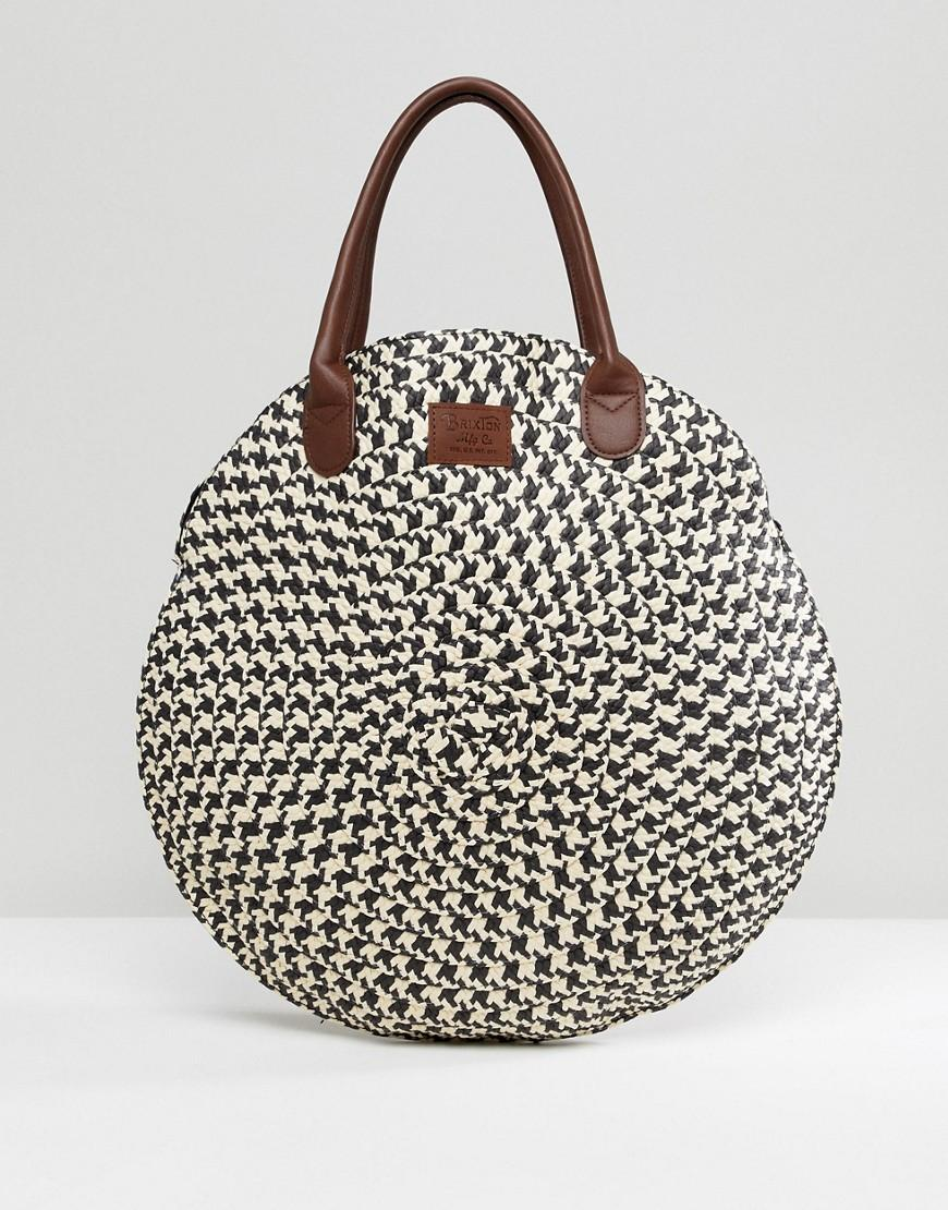 Brixton Round Straw Bag - Multi