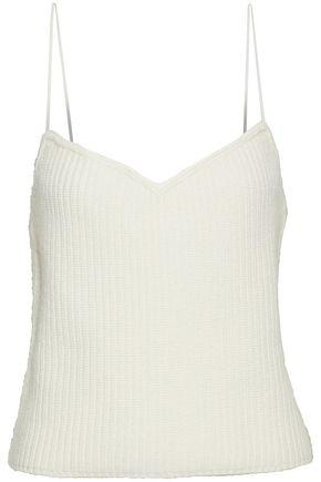 Theory Woman Ribbed Cashmere Camisole Ivory
