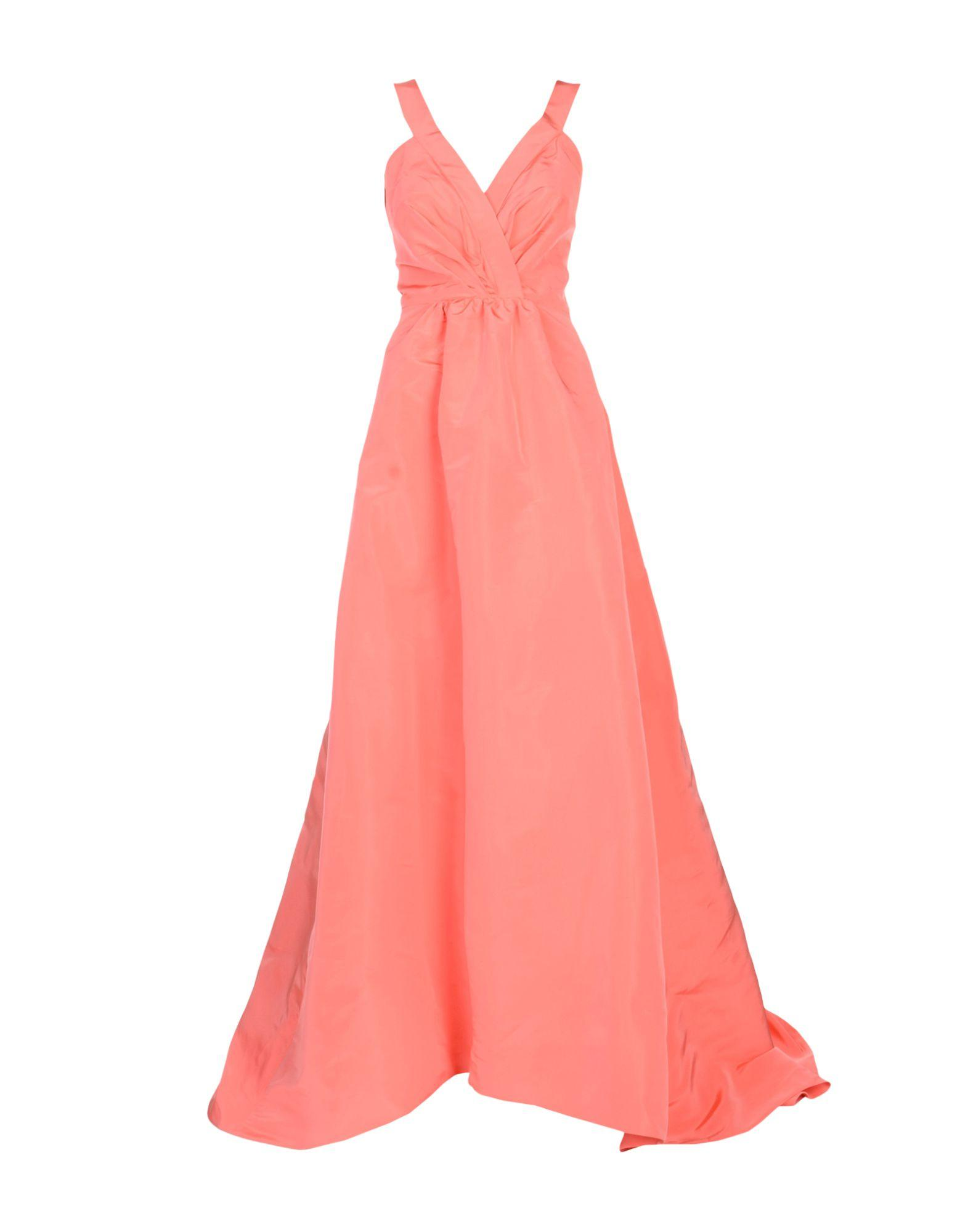 Oscar De La Renta Long Dresses In Coral