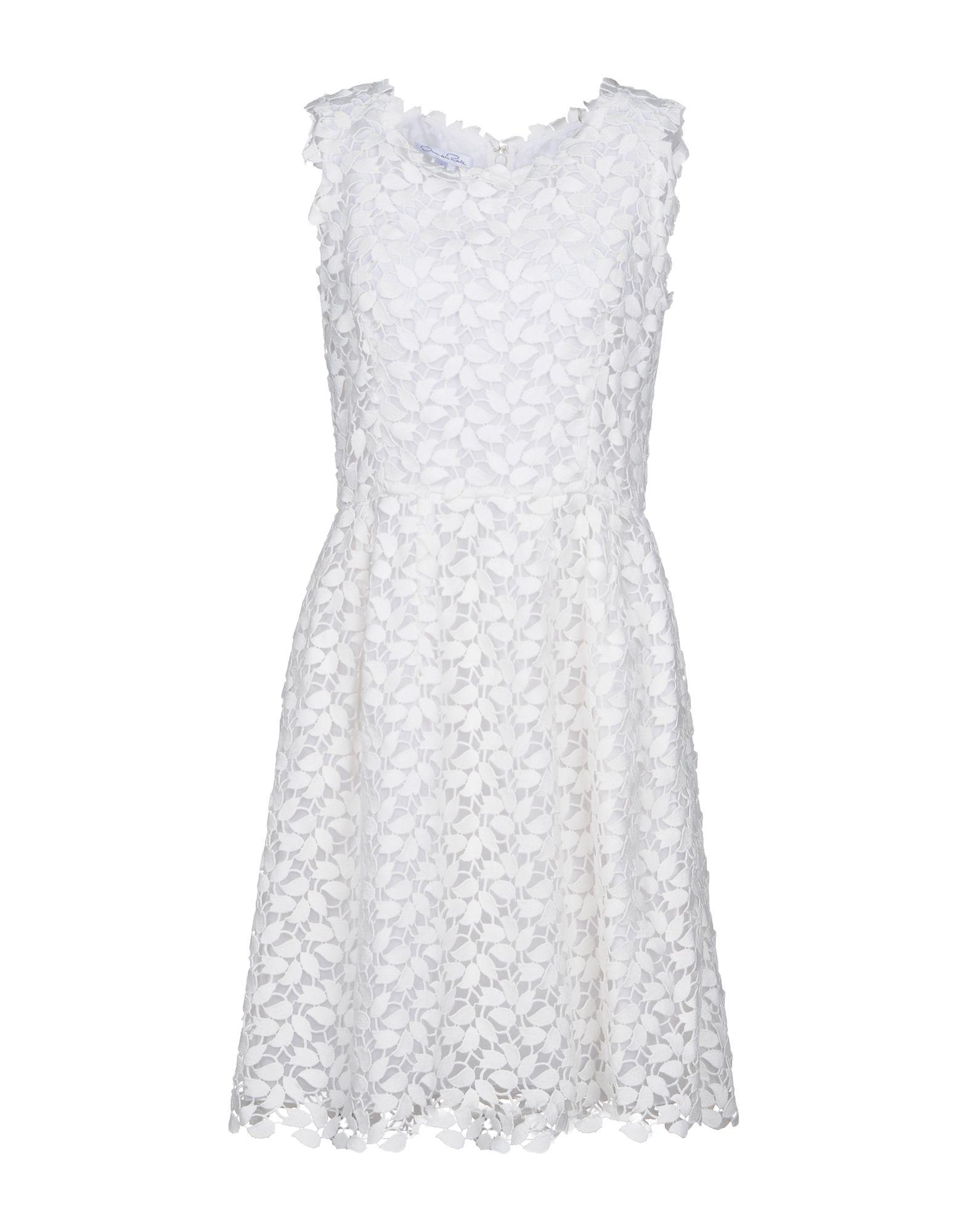 Oscar De La Renta Short Dresses In White