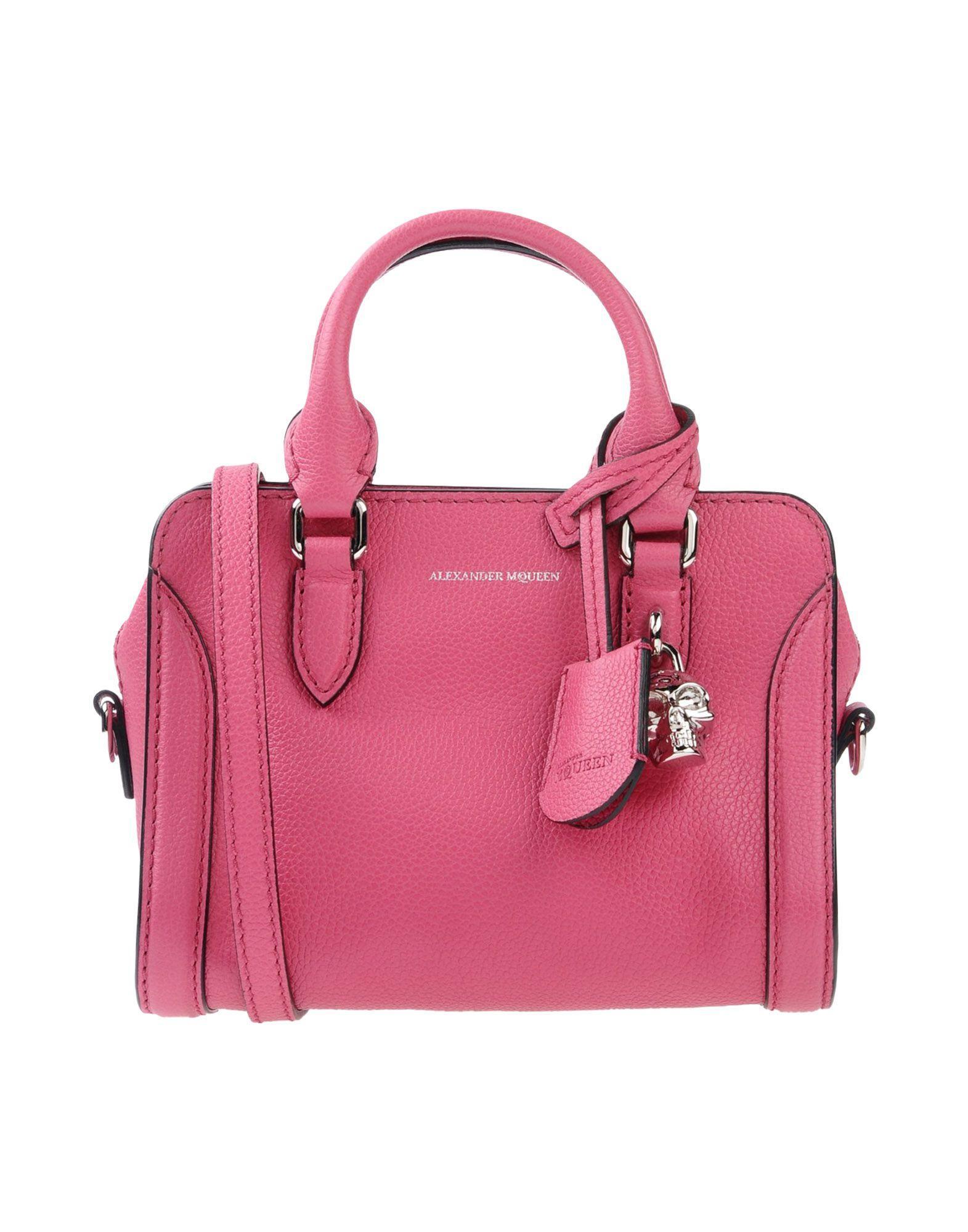 Alexander Mcqueen Handbags In Fuchsia | ModeSens