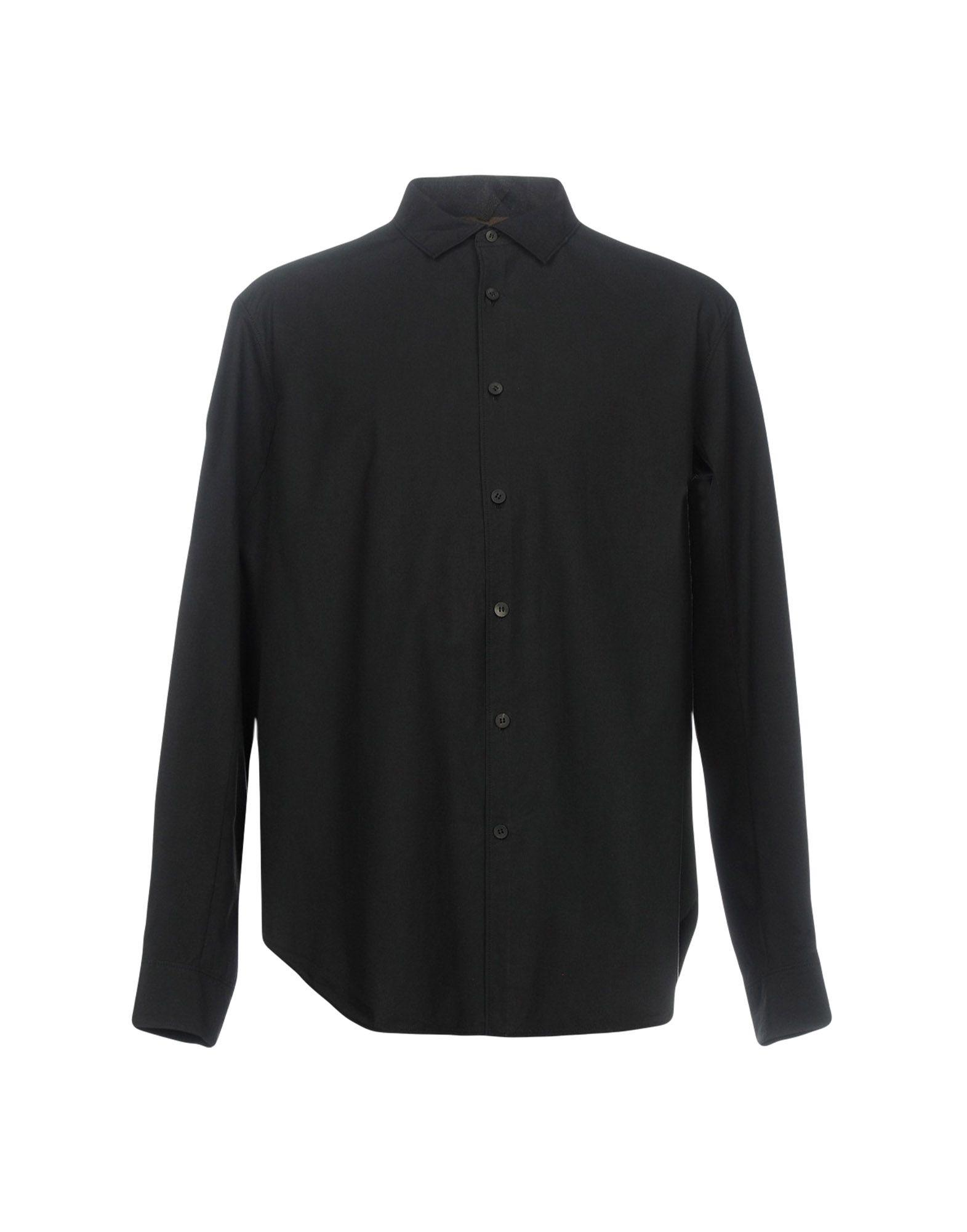 Ziggy Chen Solid Color Shirt In Black