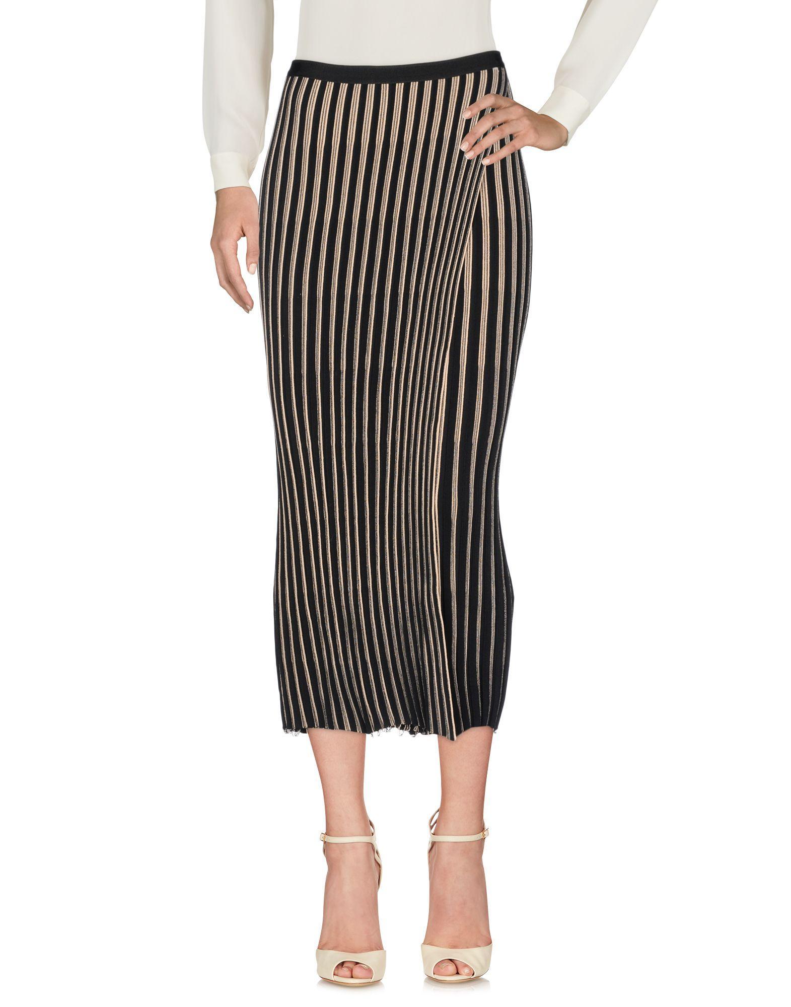Helmut Lang 3/4 Length Skirts In Black