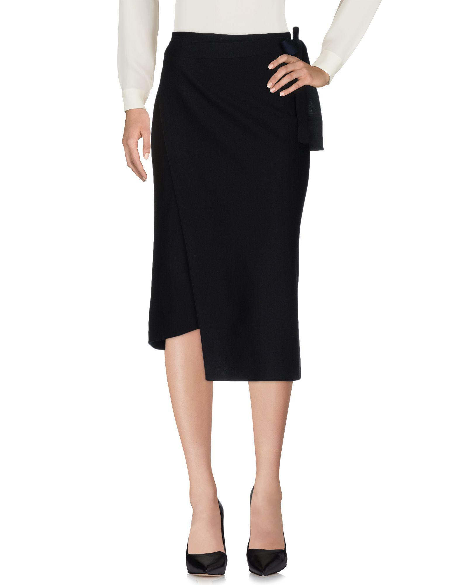 Mrz Midi Skirts In Black