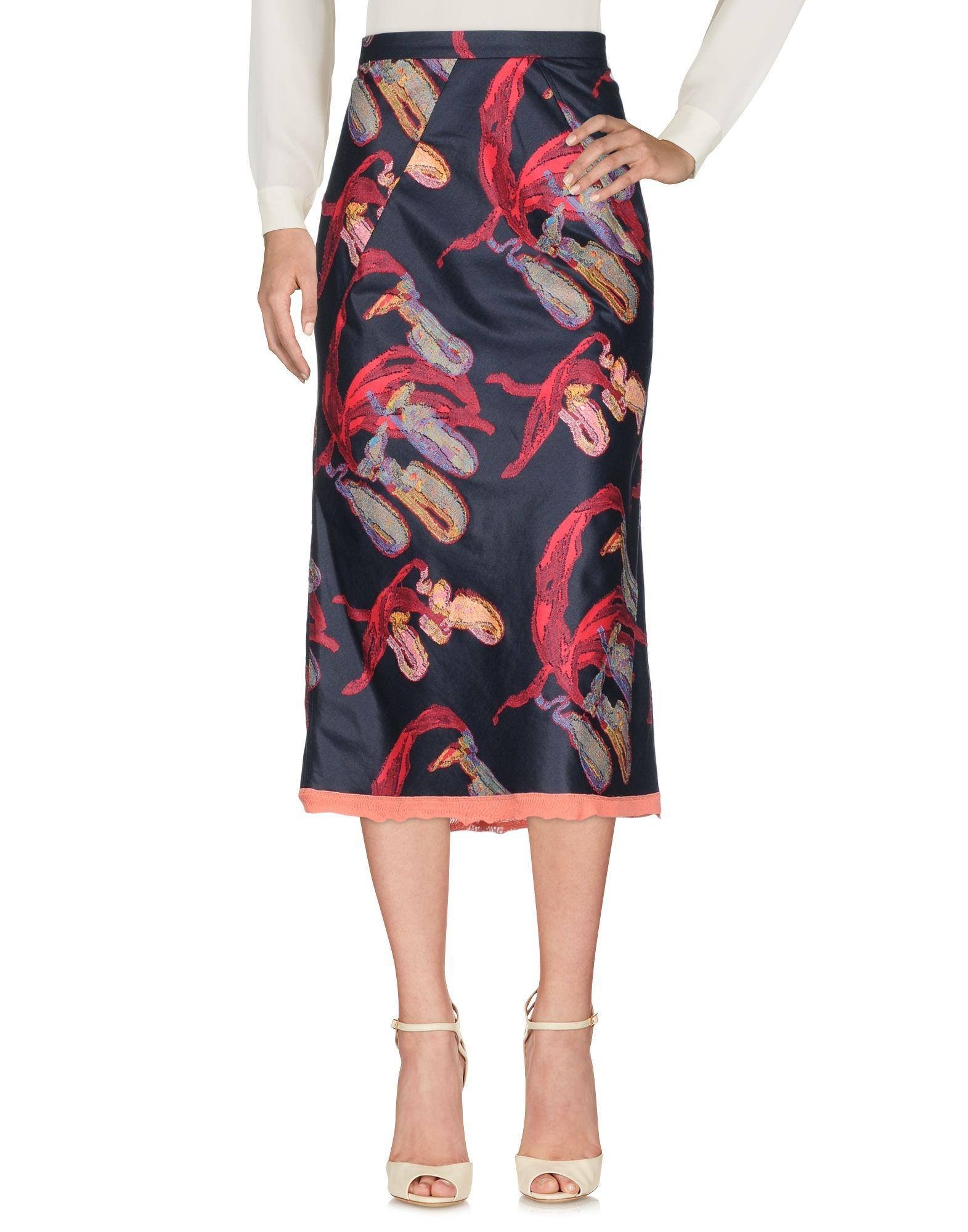 Sonia Rykiel 3/4 Length Skirt In Dark Blue