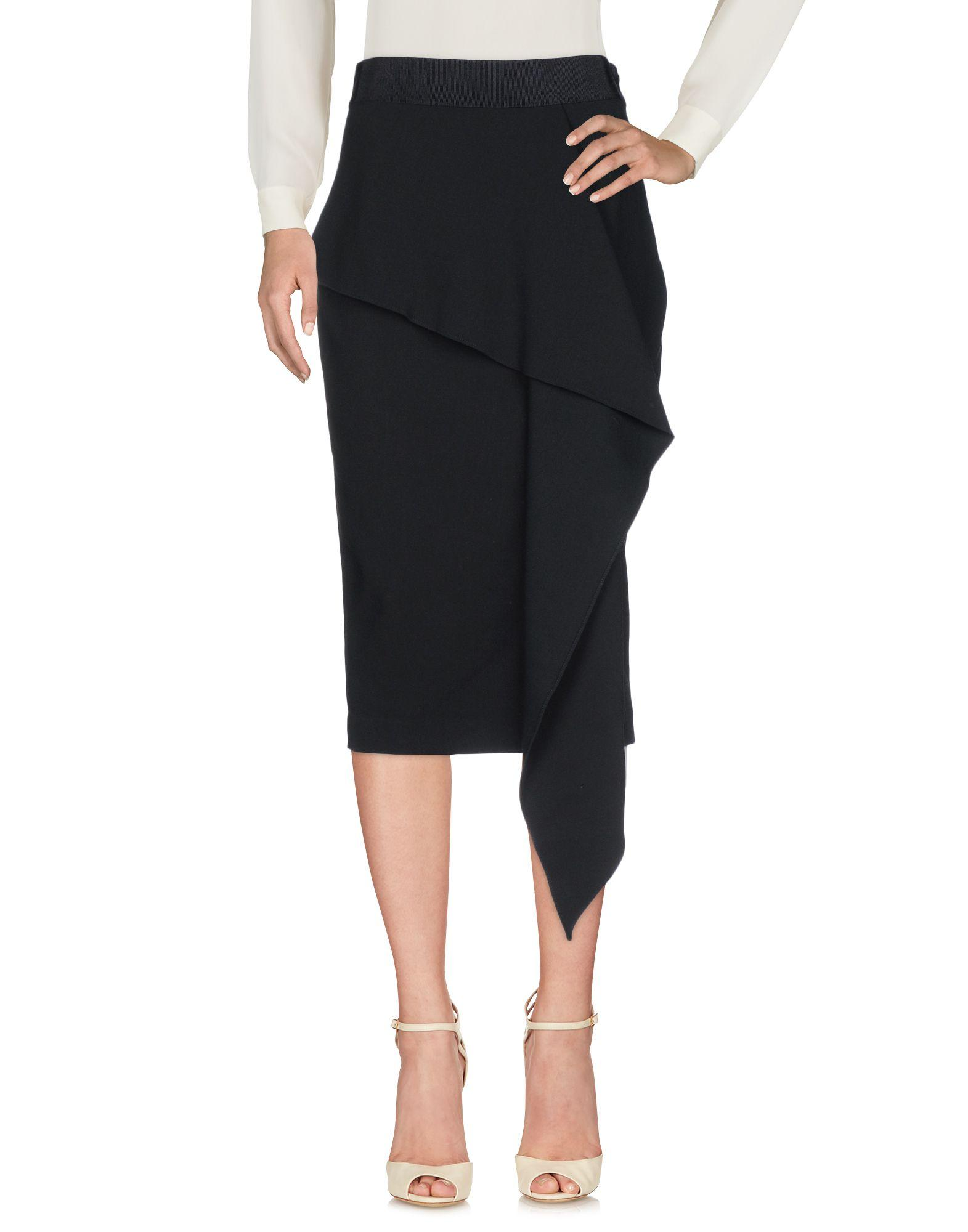 Milly 3/4 Length Skirts In Black