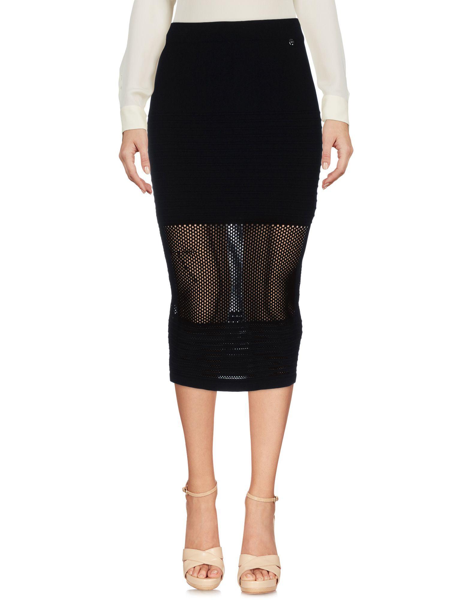 Liu •jo 3/4 Length Skirts In Black