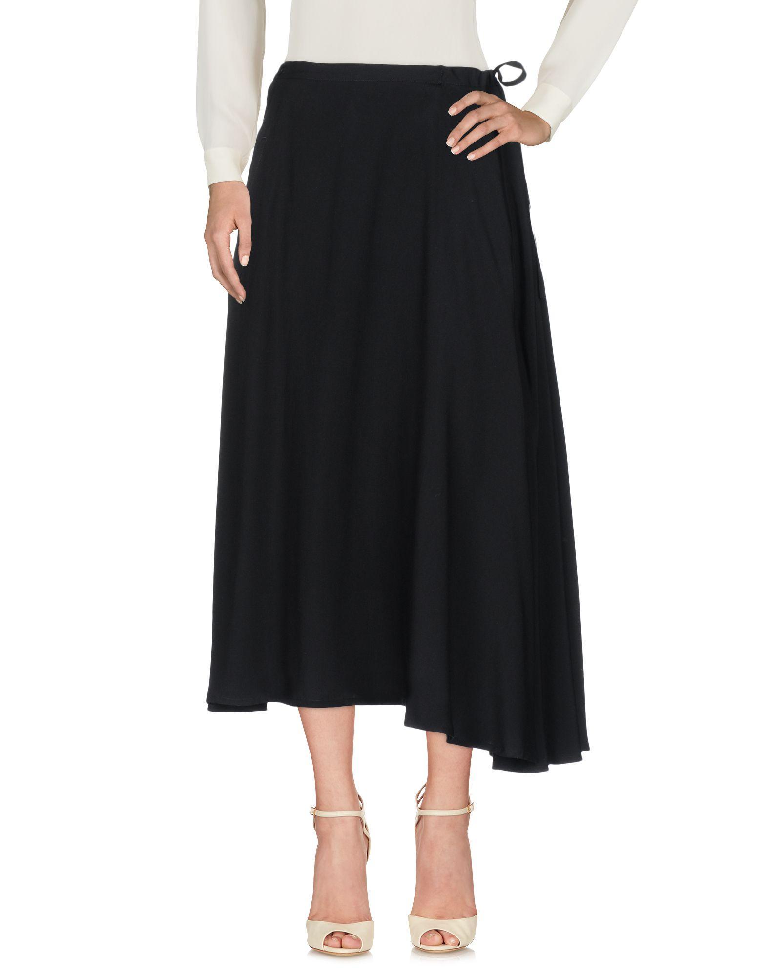 Y's Midi Skirts In Black