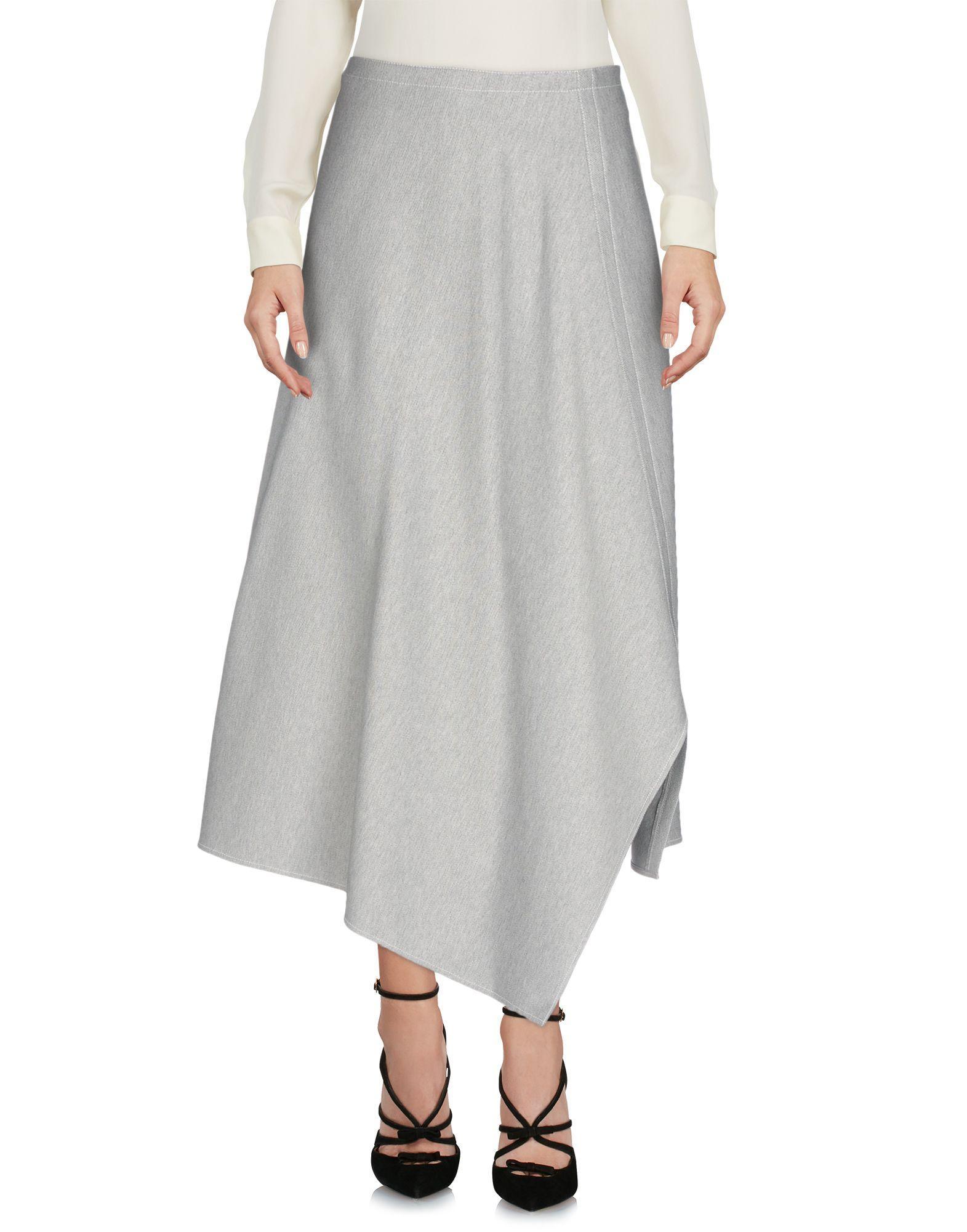 Tibi 3/4 Length Skirt In Dark Blue