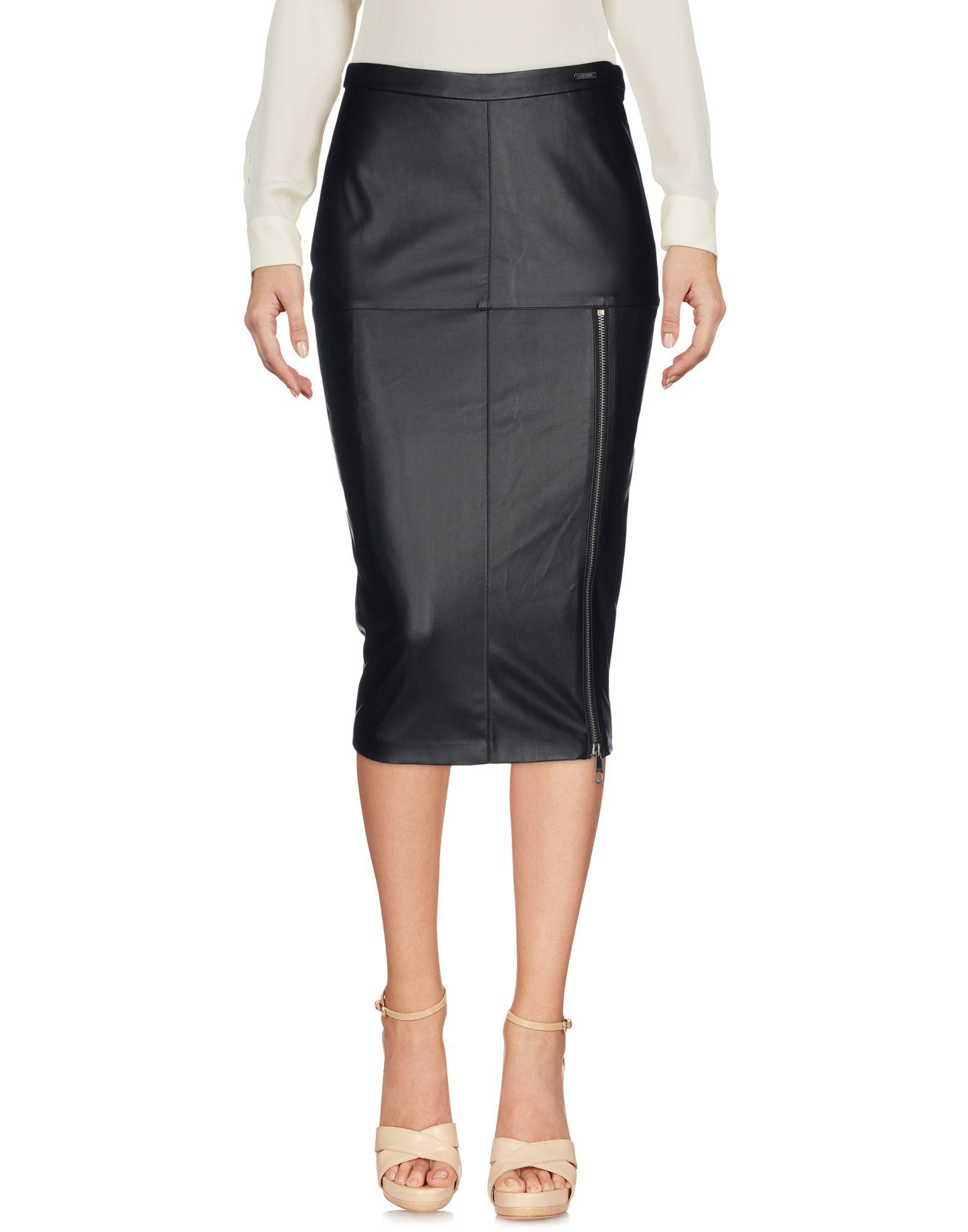 Guess 3/4 Length Skirt In Black
