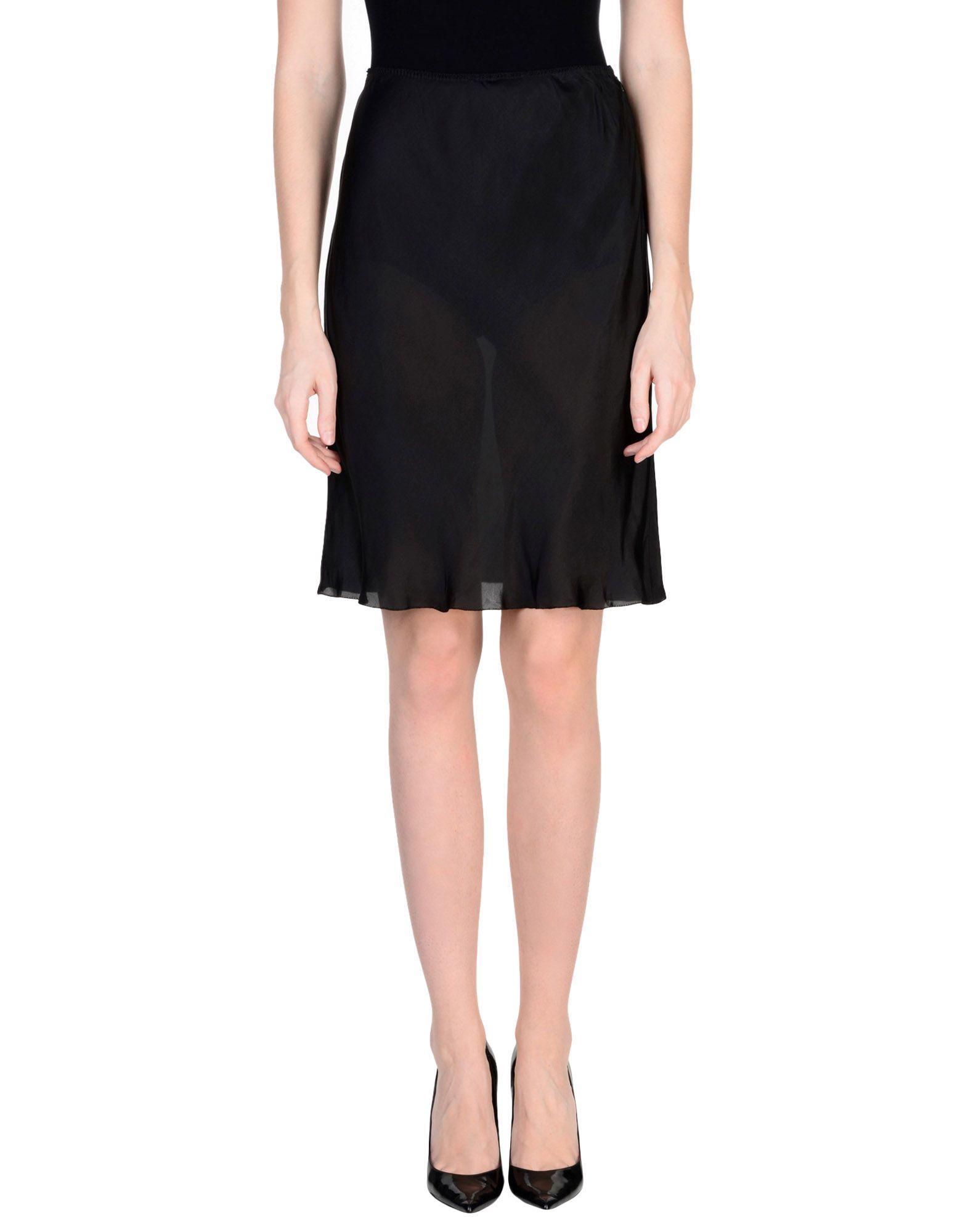 Miu Miu Knee Length Skirt In Black
