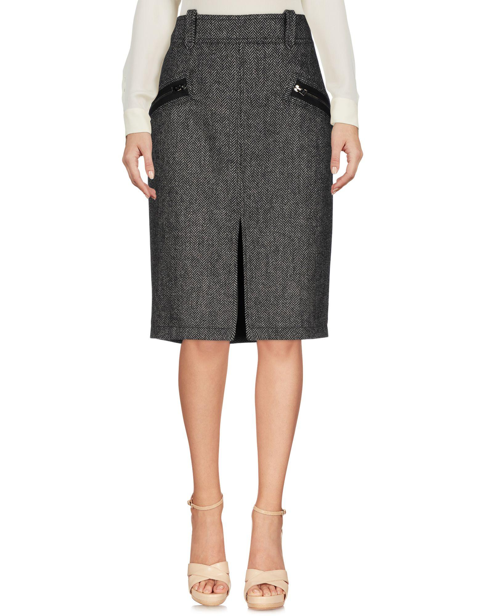 Tom Ford Knee Length Skirts In Grey
