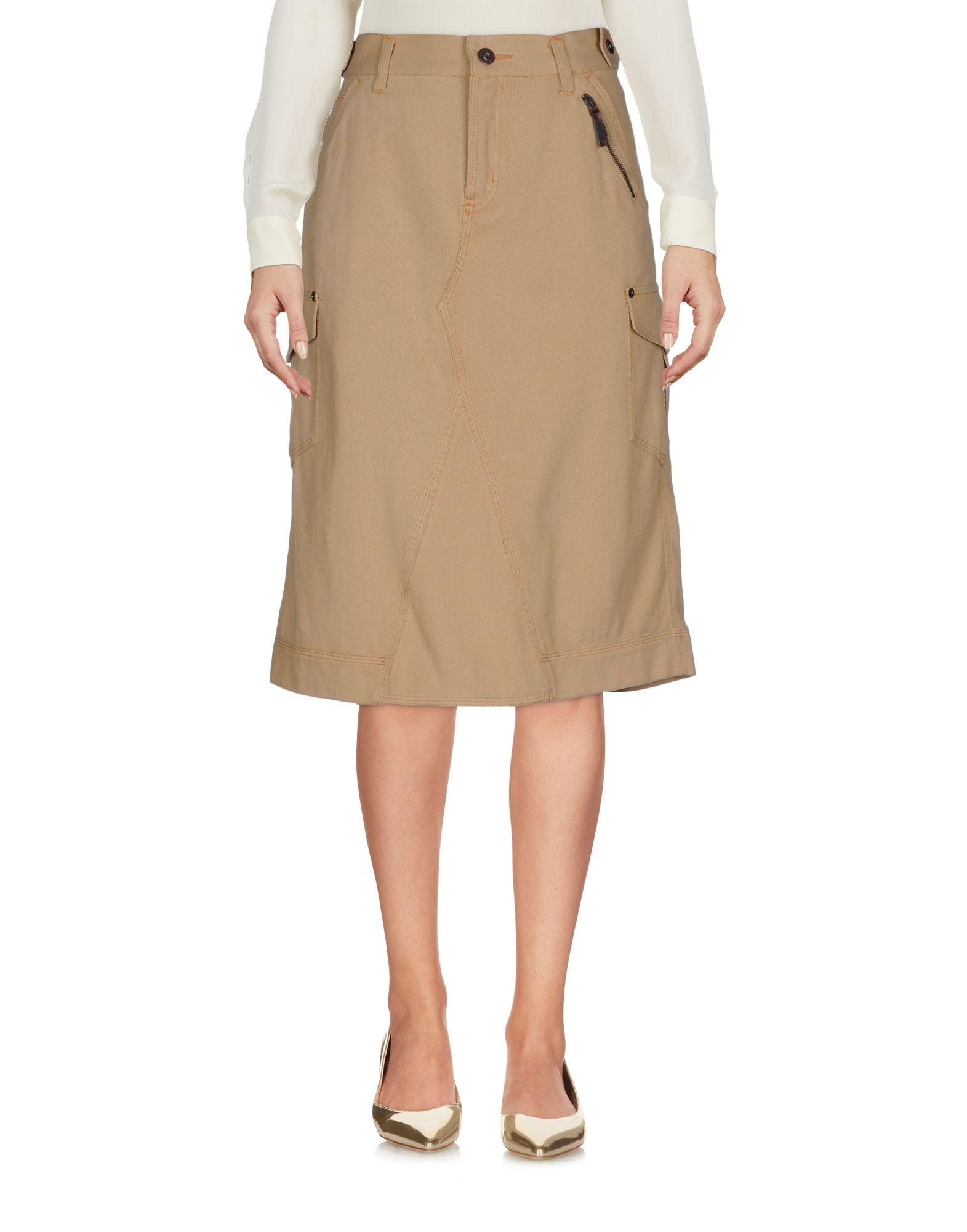 Moschino Knee Length Skirts In Sand