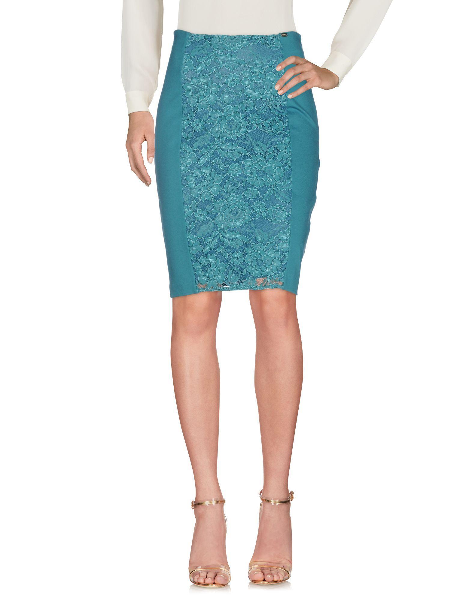 Liu •jo Knee Length Skirt In Deep Jade