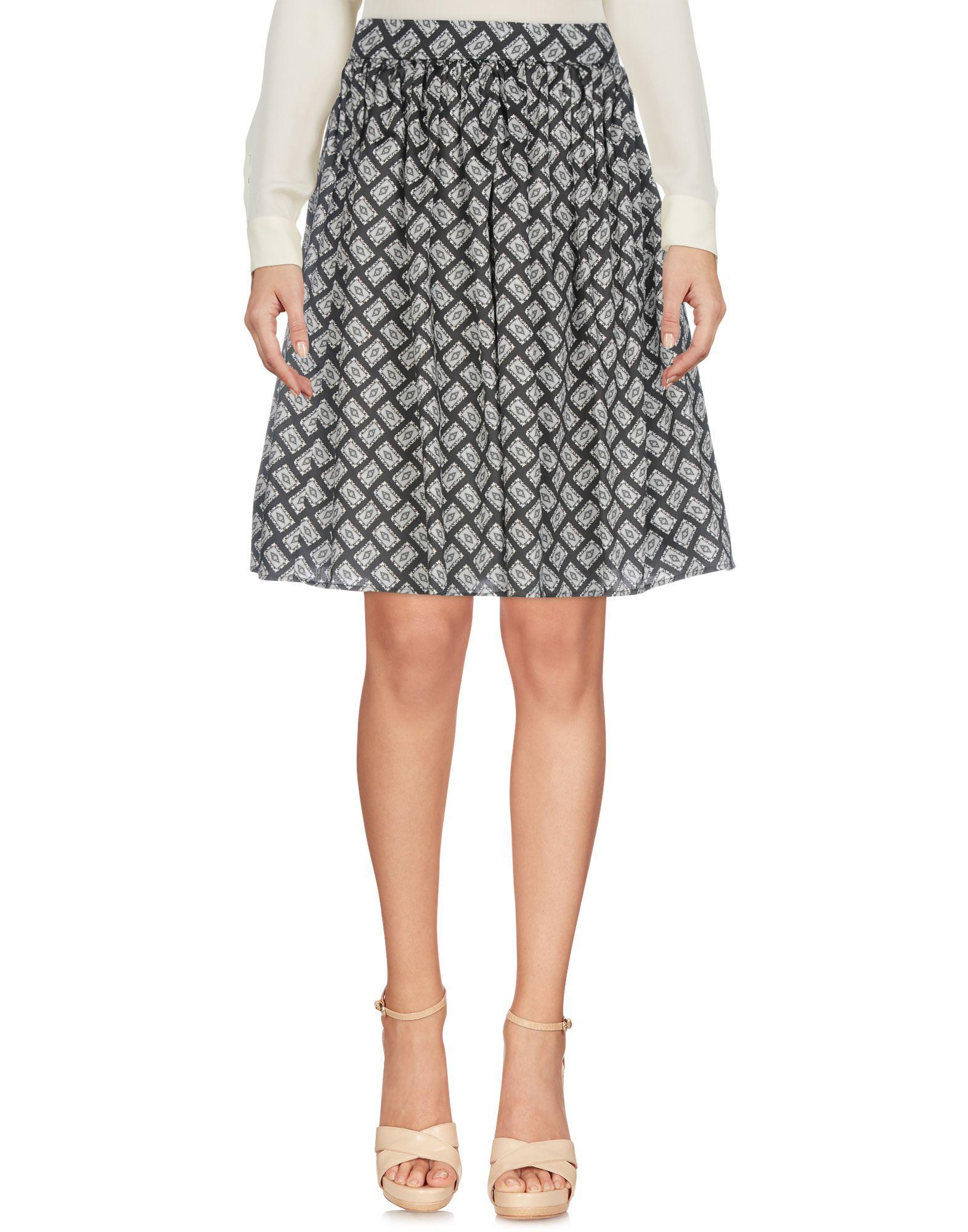 Dolce & Gabbana Knee Length Skirt In Black