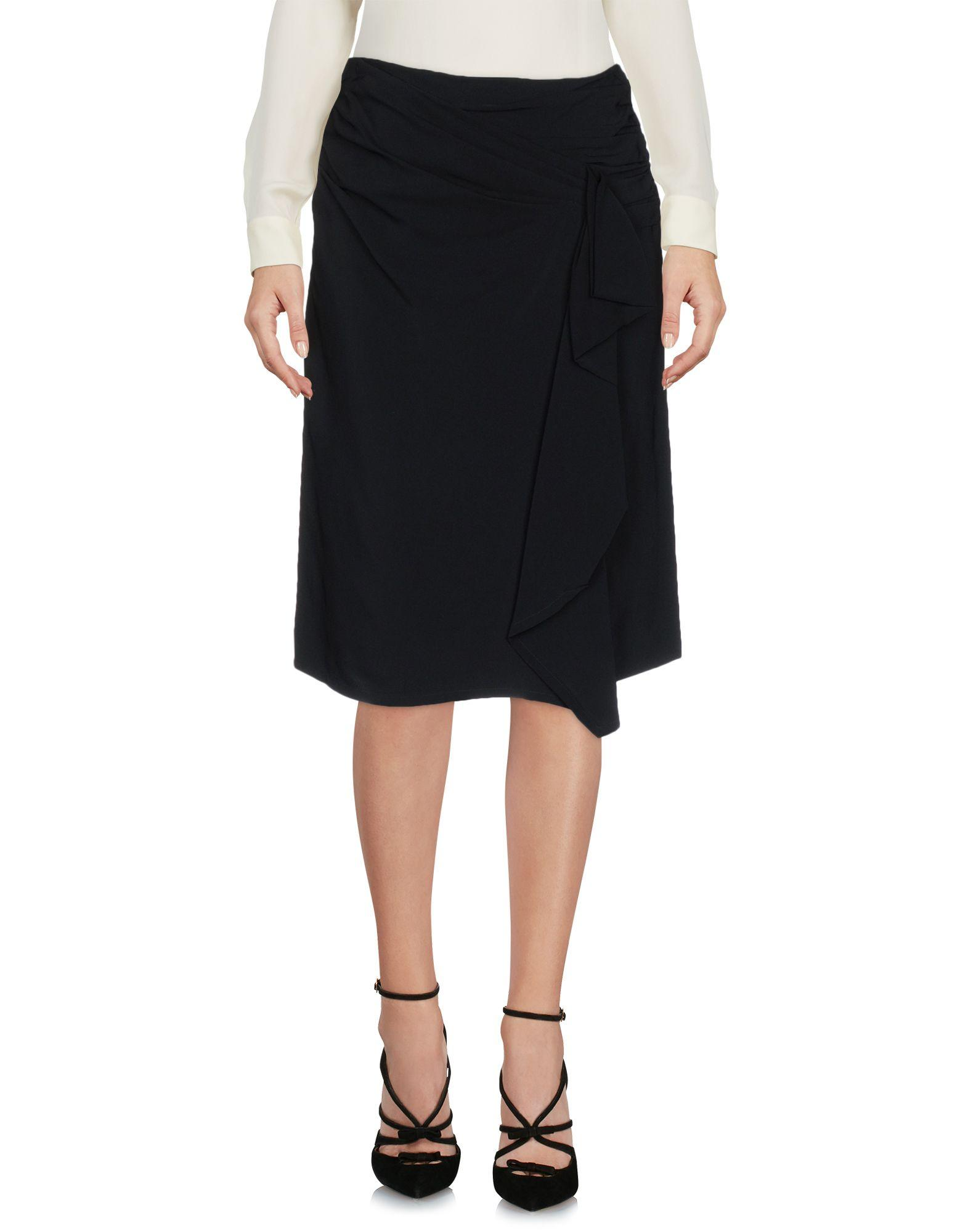 Red Valentino Knee Length Skirts In Black