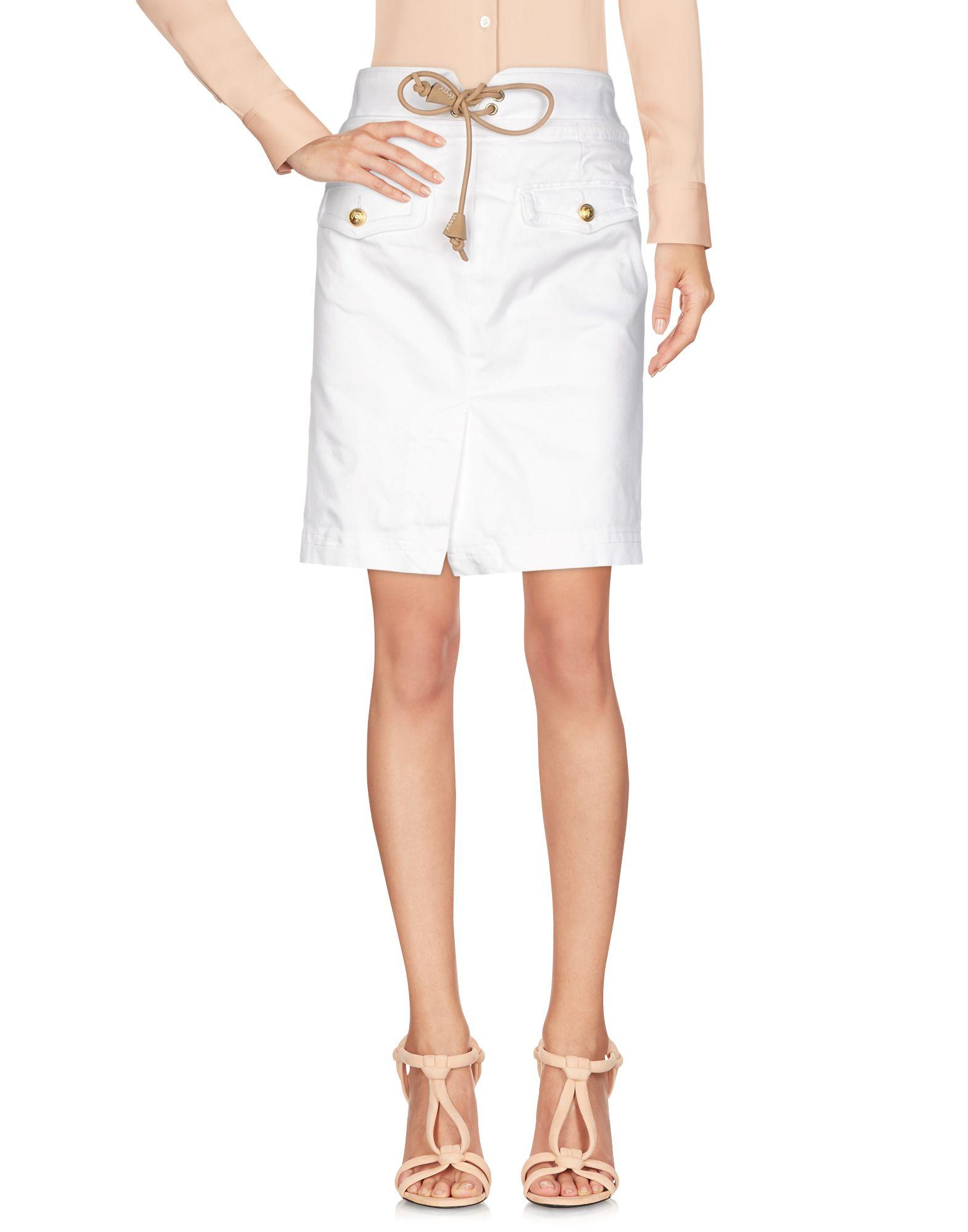 Dsquared2 Knee Length Skirts In White