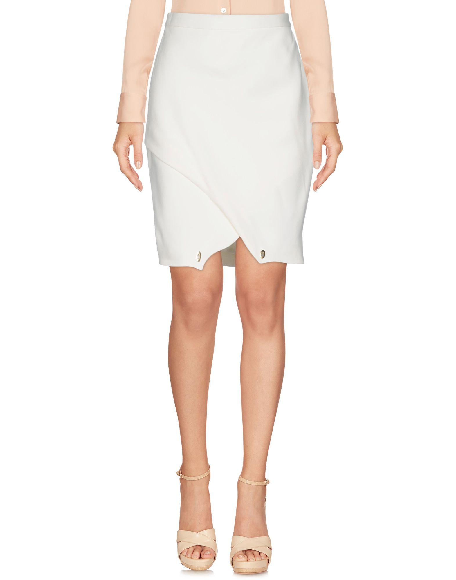 Etienne Deroeux Knee Length Skirts In Ivory