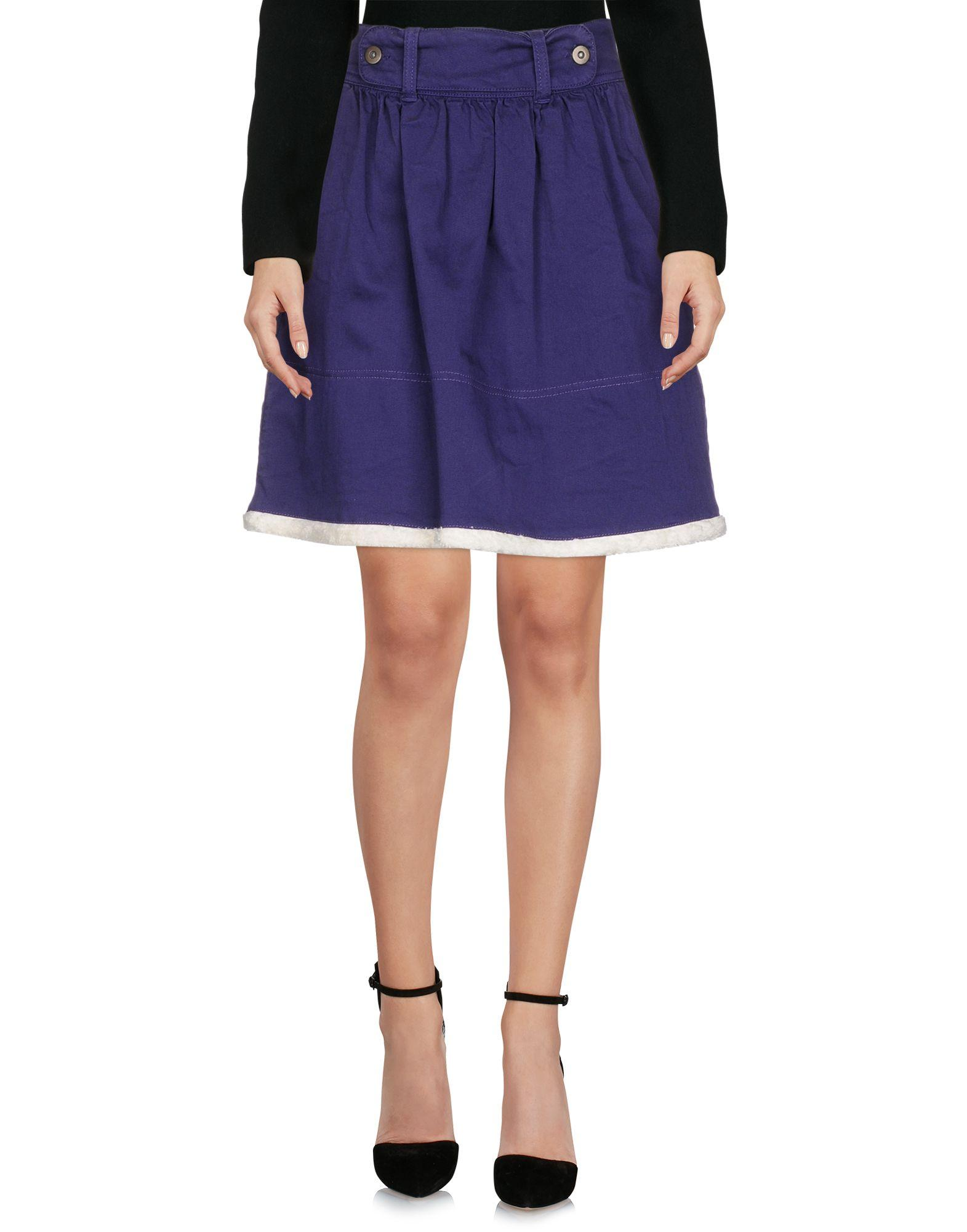 Red Valentino Knee Length Skirts In Purple