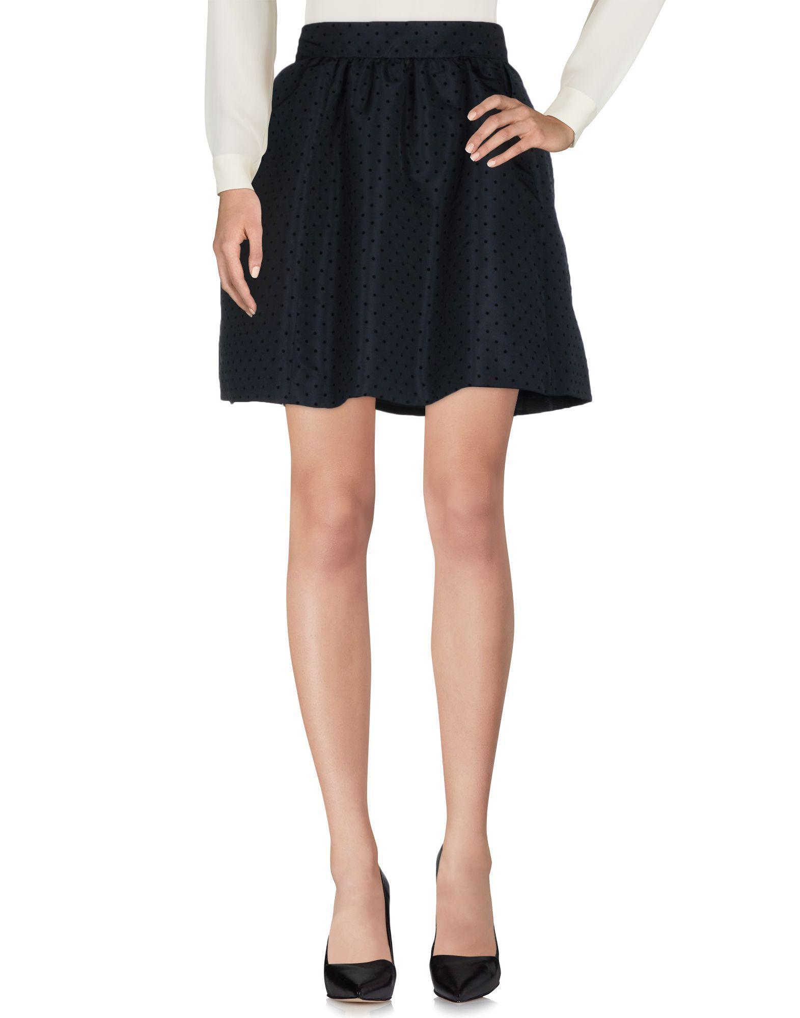 Red Valentino Knee Length Skirts In Dark Blue