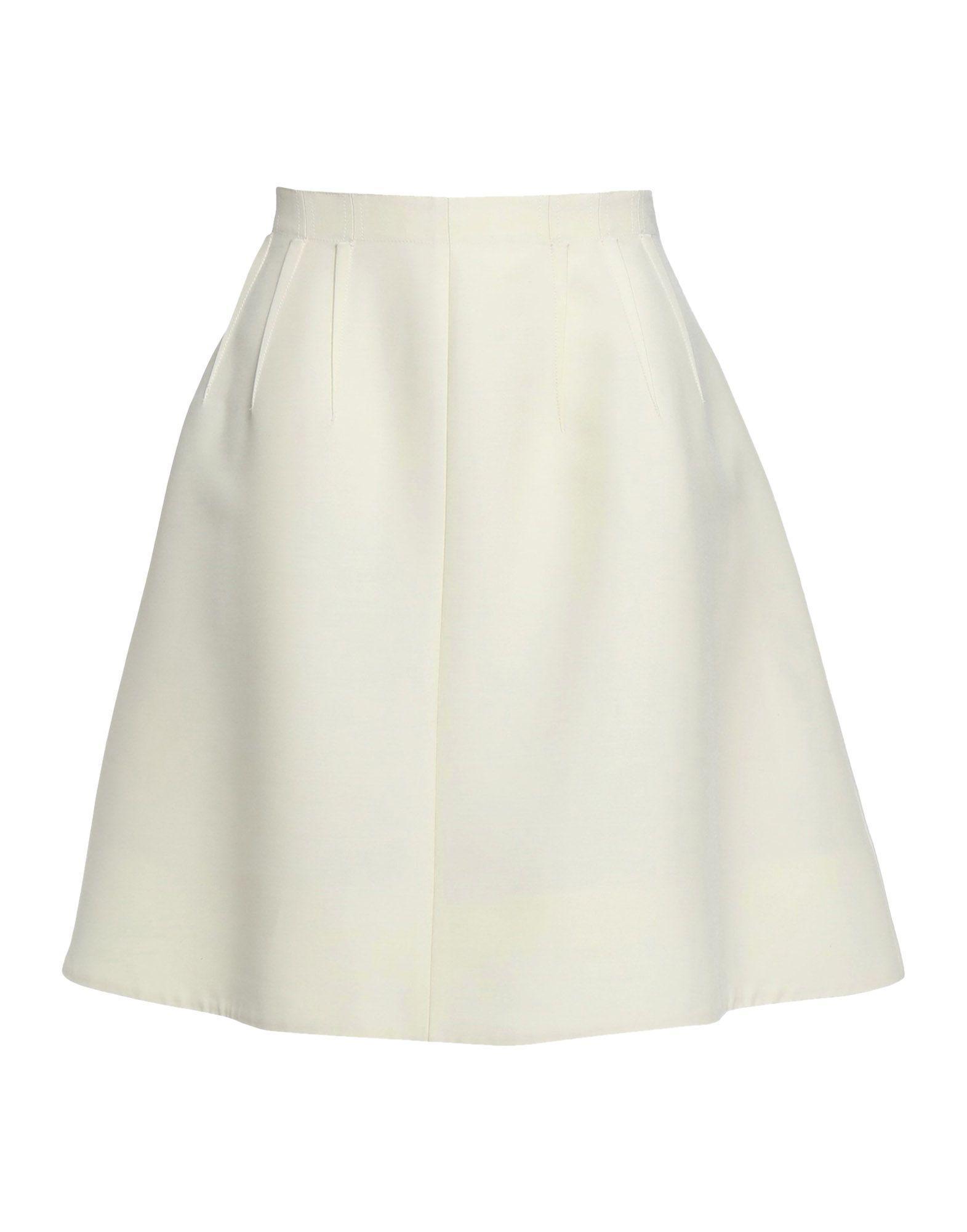 Oscar De La Renta Knee Length Skirts In Ivory