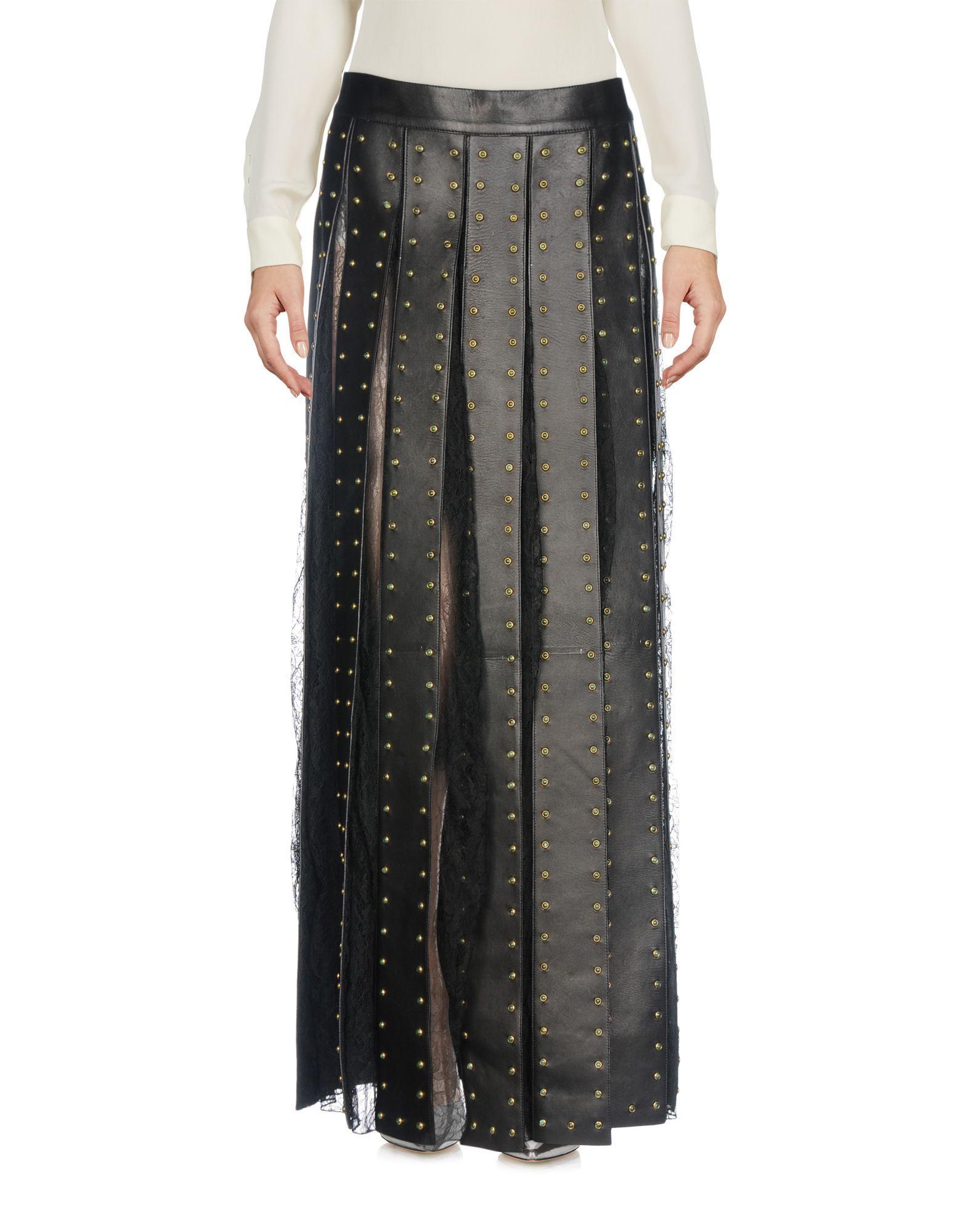 Valentino Long Skirt In Black