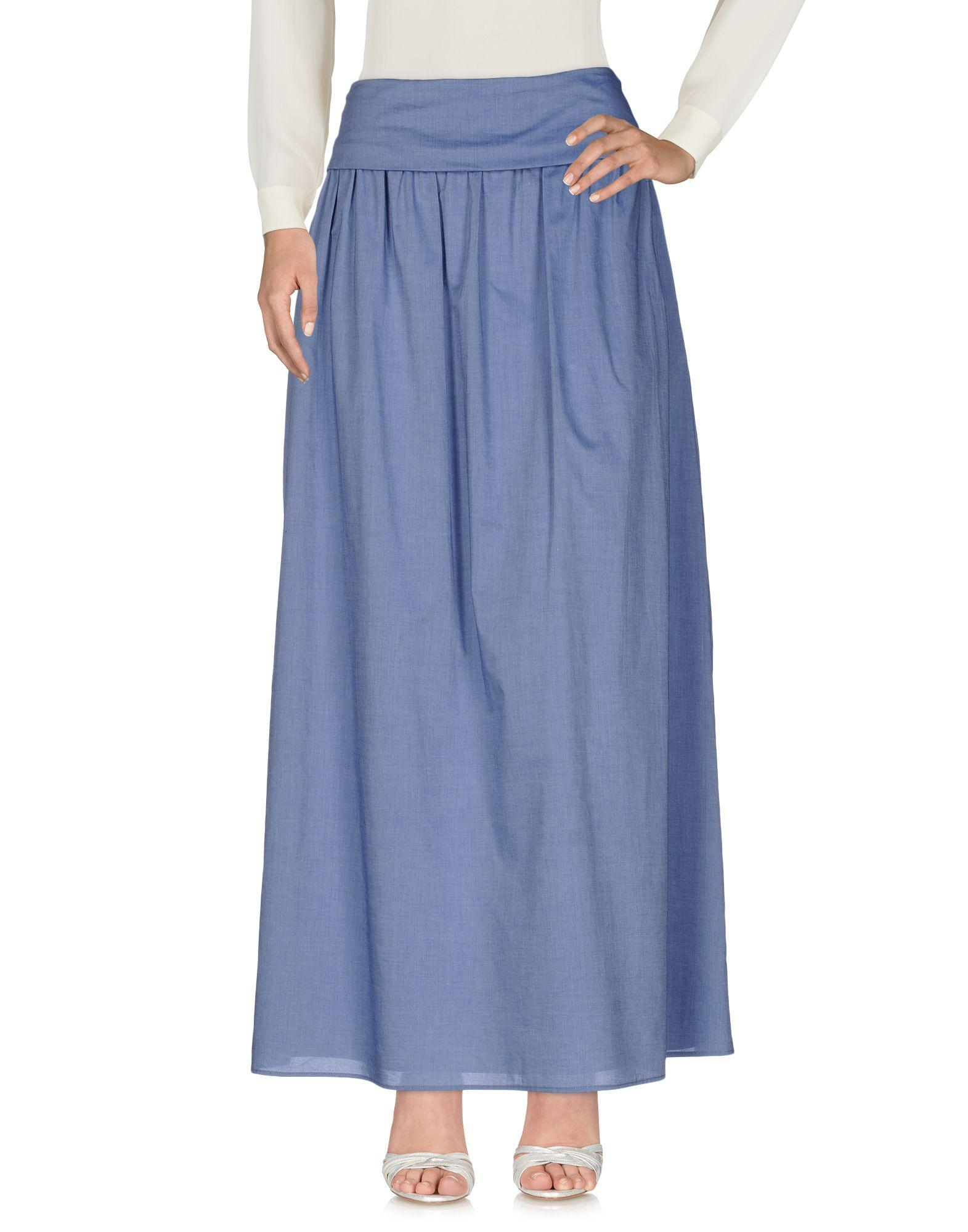 Fabiana Filippi Maxi Skirts In Pastel Blue