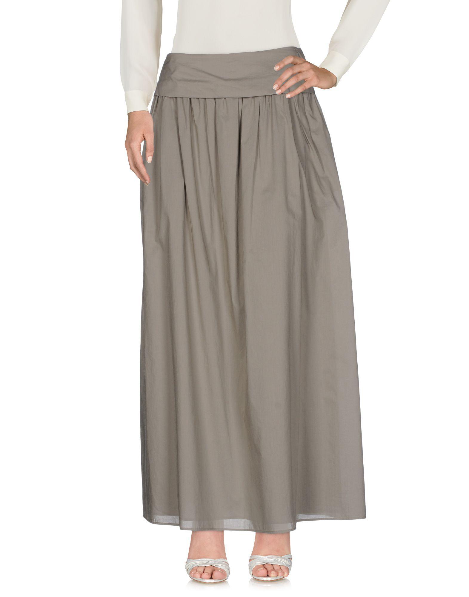 Fabiana Filippi Maxi Skirts In Grey