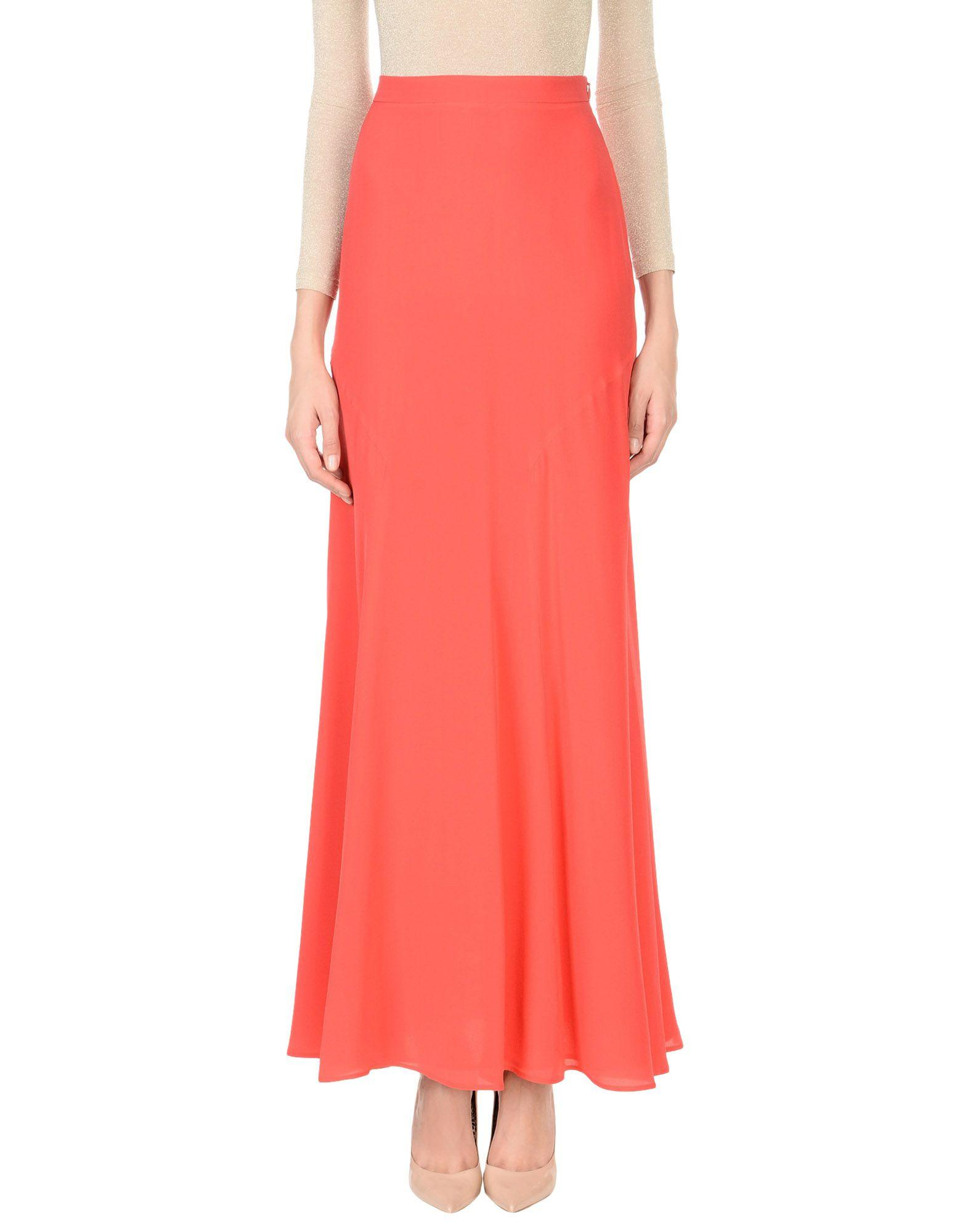 Boutique Moschino Long Skirts In Red