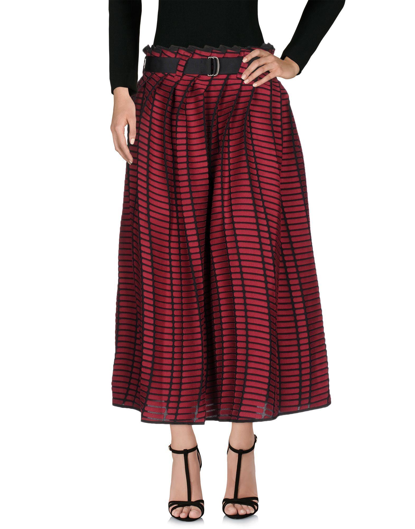 Issey Miyake Maxi Skirts In Maroon