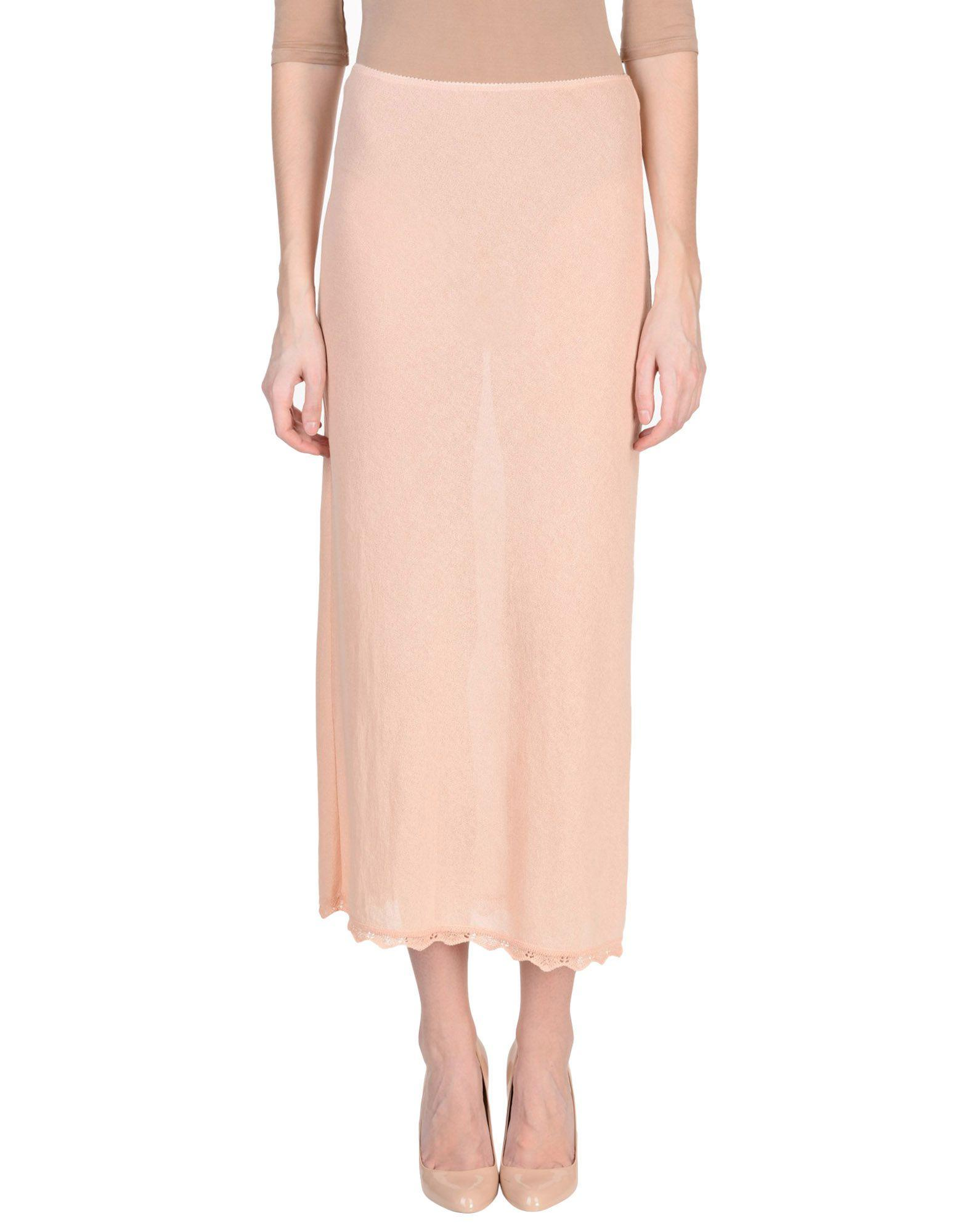 Miu Miu Long Skirts In Apricot