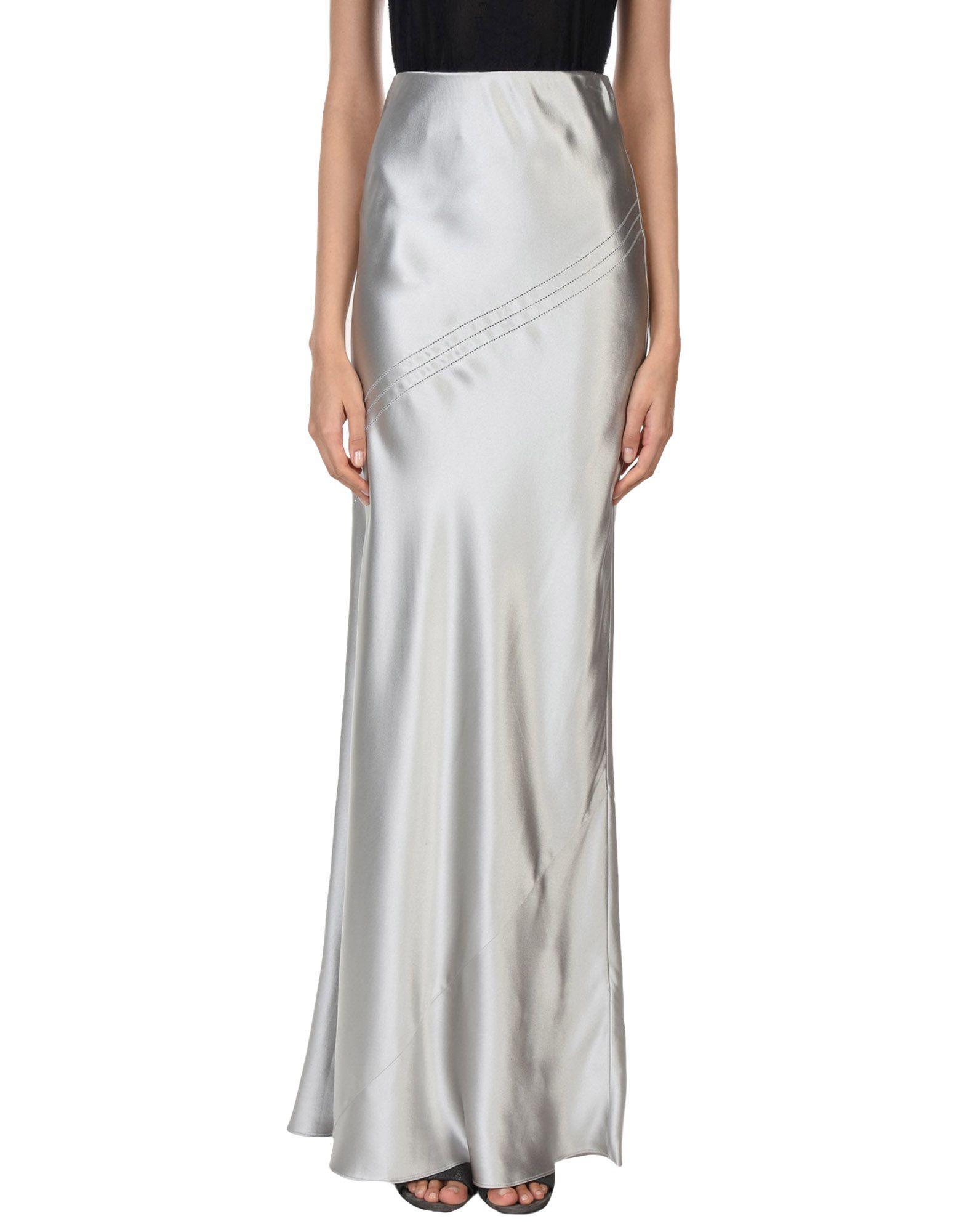 Amanda Wakeley Long Skirts In Grey
