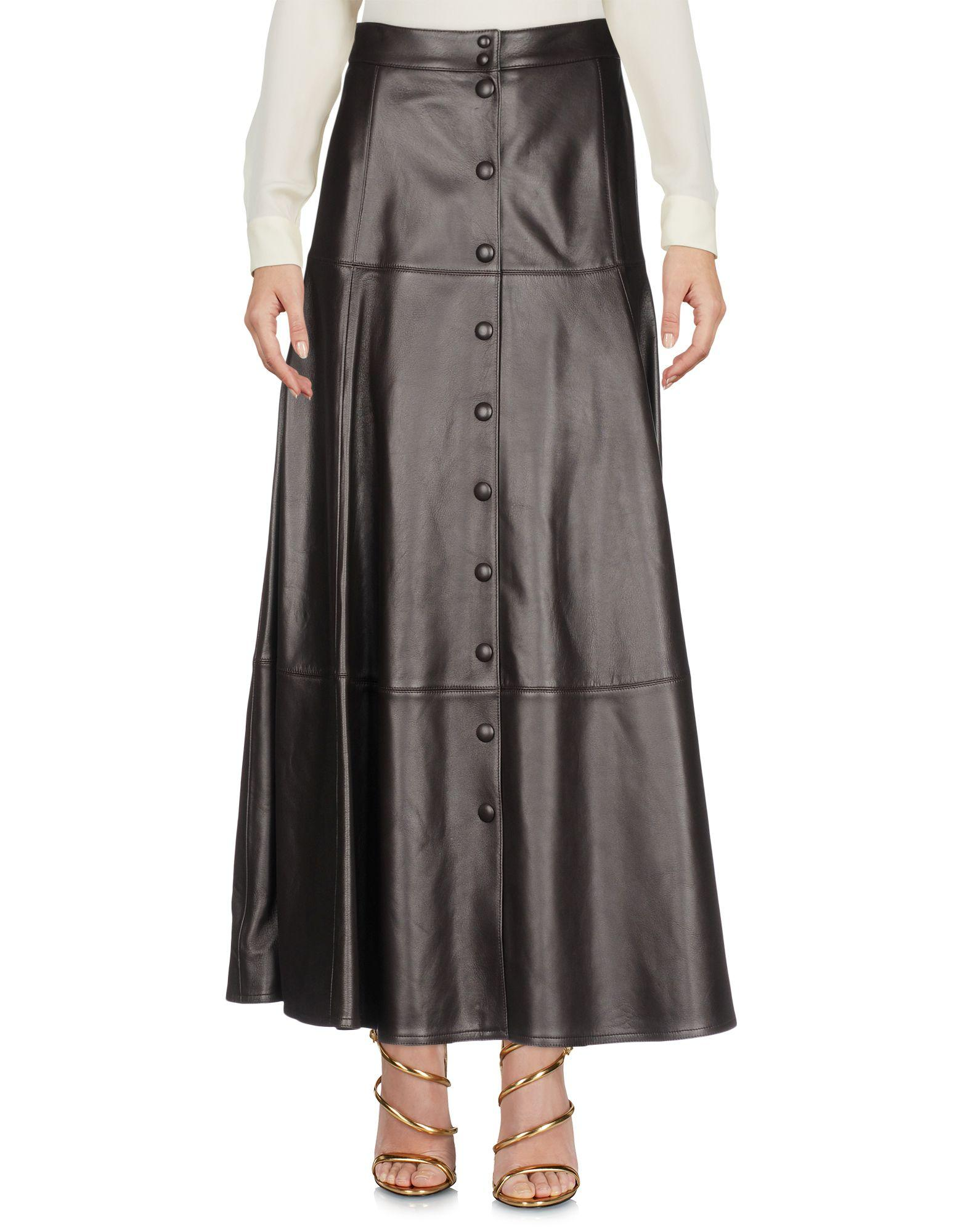 Michael Kors Long Skirts In Dark Brown