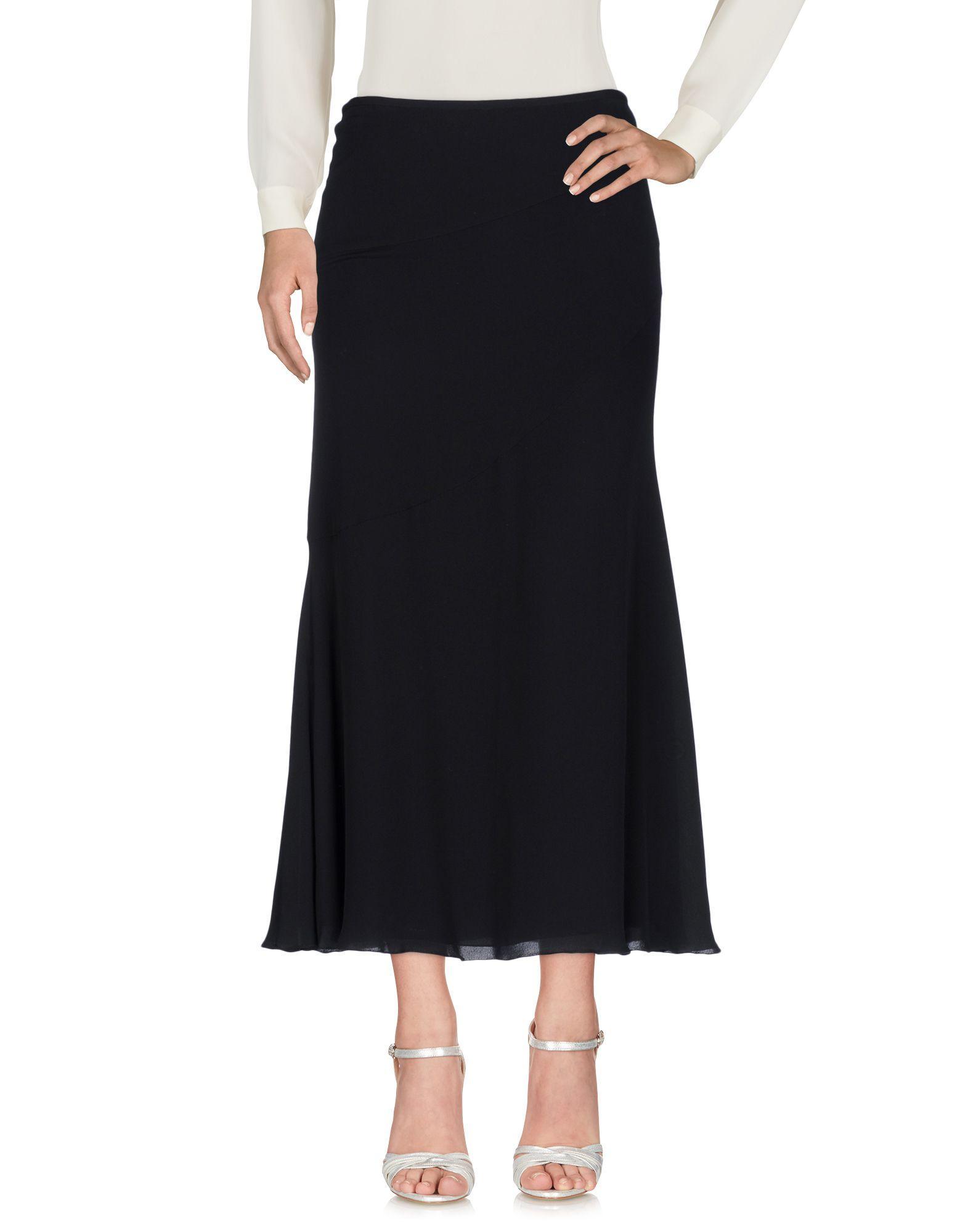 Armani Collezioni Long Skirts In Black