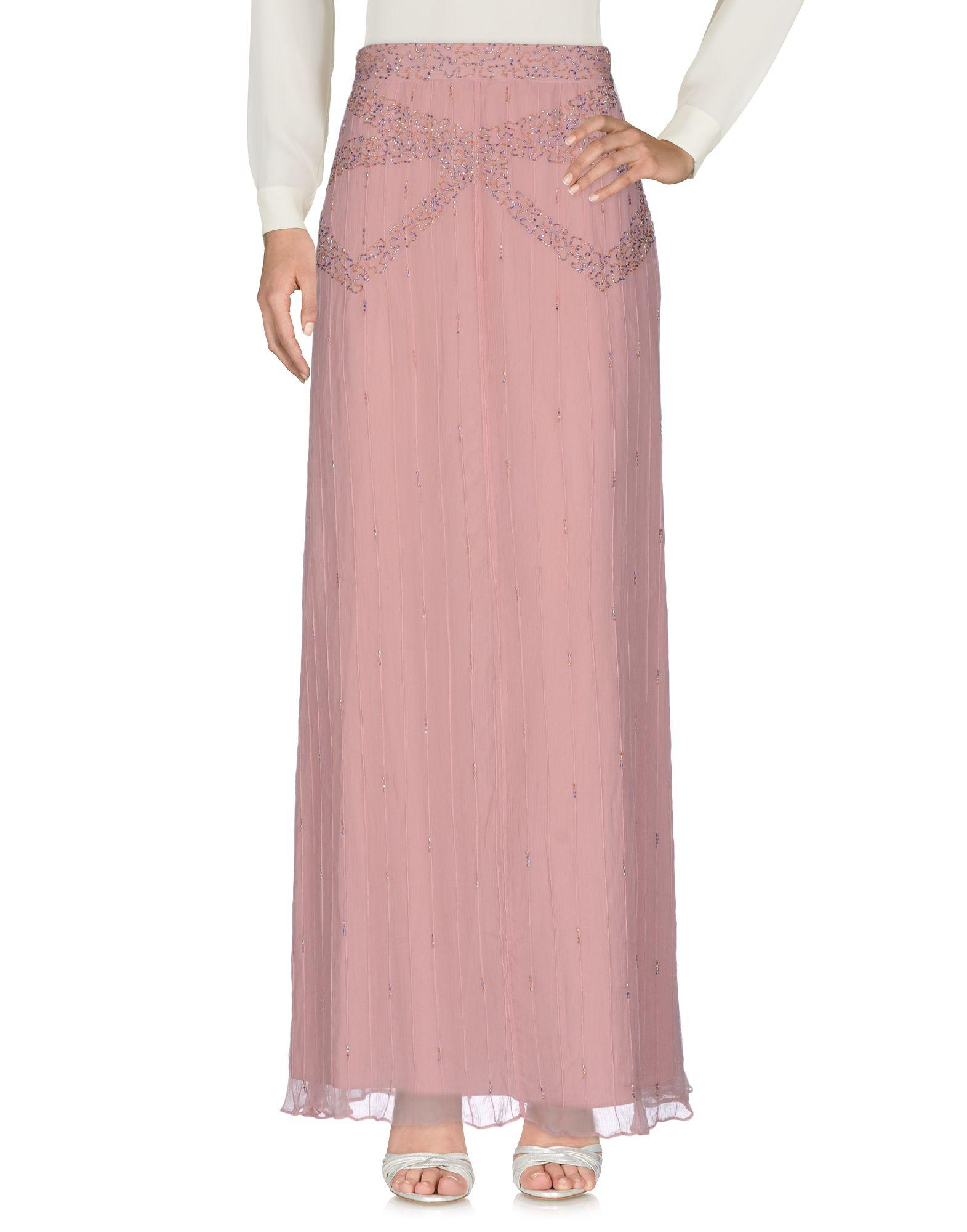 Intropia Long Skirts In Pastel Pink