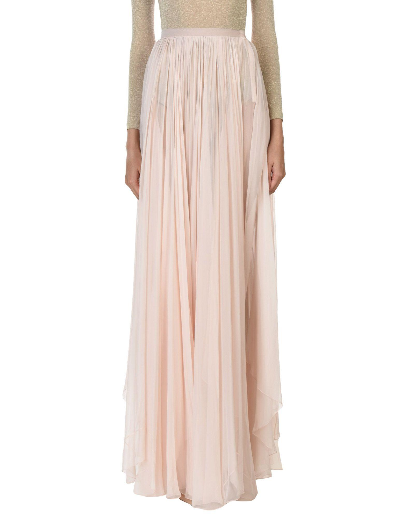 Vionnet Long Skirts In Light Pink